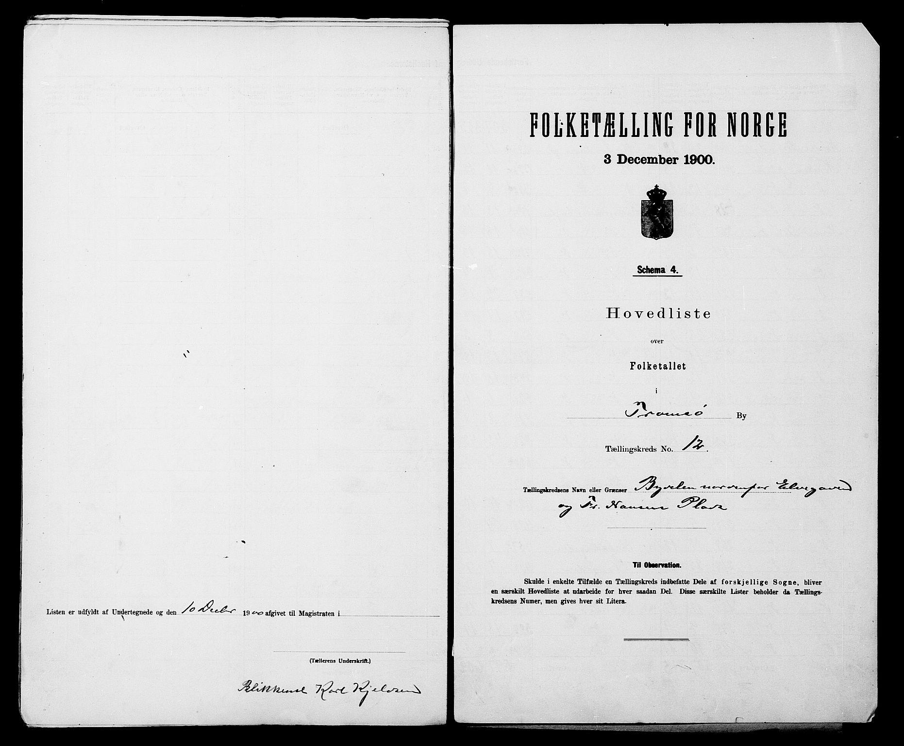 SATØ, 1900 census for Tromsø, 1900, p. 26