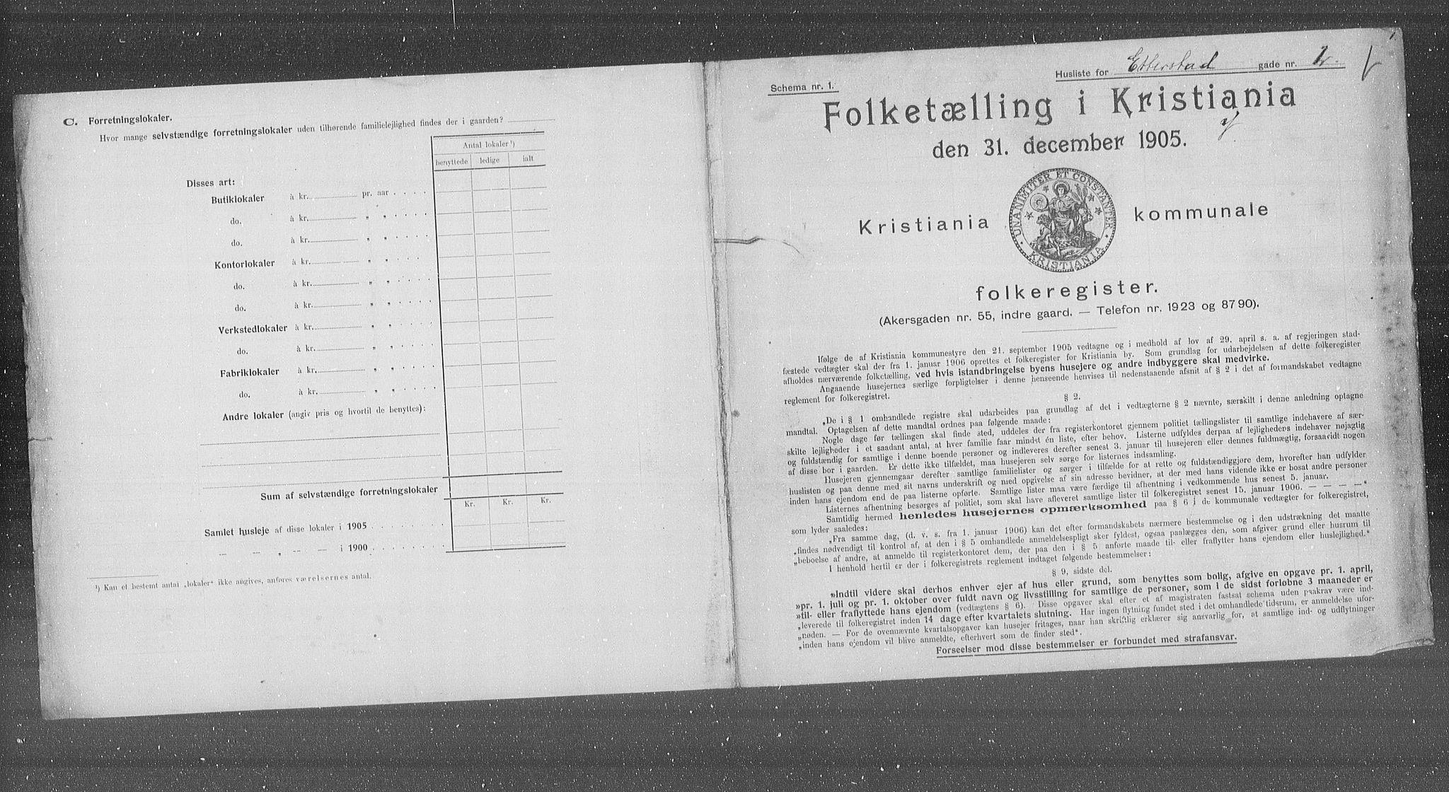 OBA, Municipal Census 1905 for Kristiania, 1905, p. 11562
