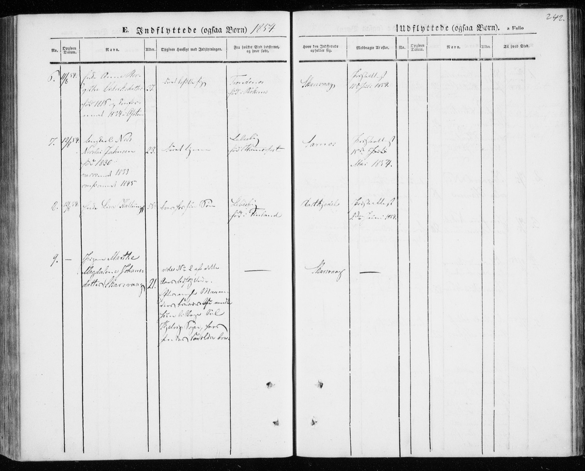 SATØ, Kistrand/Porsanger sokneprestembete, H/Ha/L0004.kirke: Parish register (official) no. 4, 1843-1860, p. 242