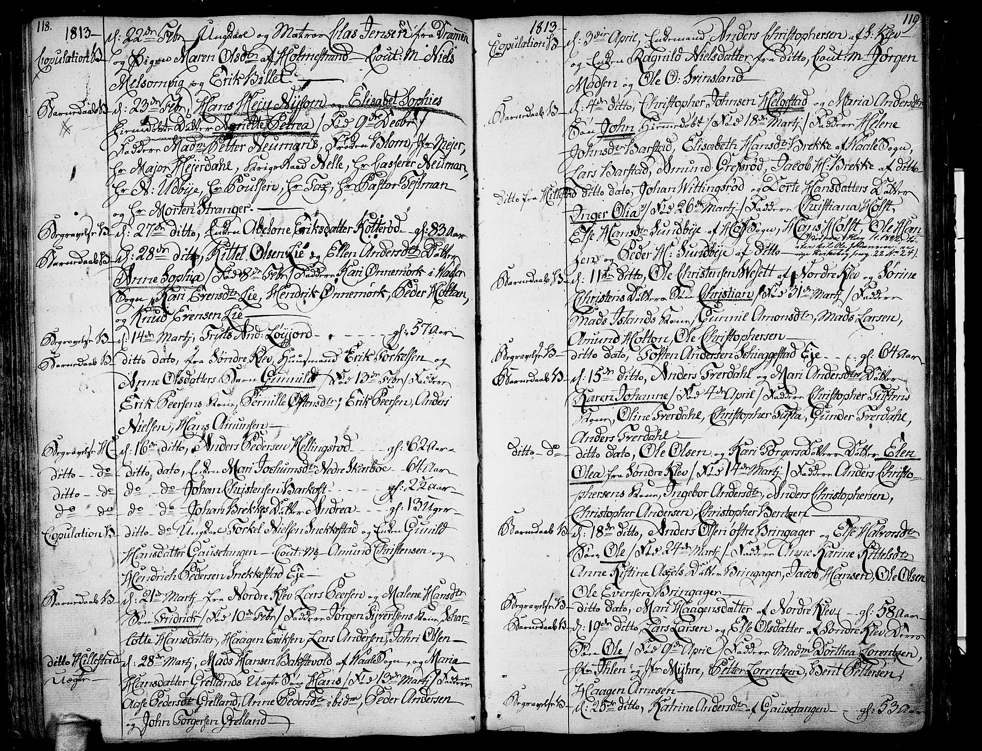 SAKO, Botne kirkebøker, F/Fa/L0003: Parish register (official) no. I 3 /1, 1792-1844, p. 118-119
