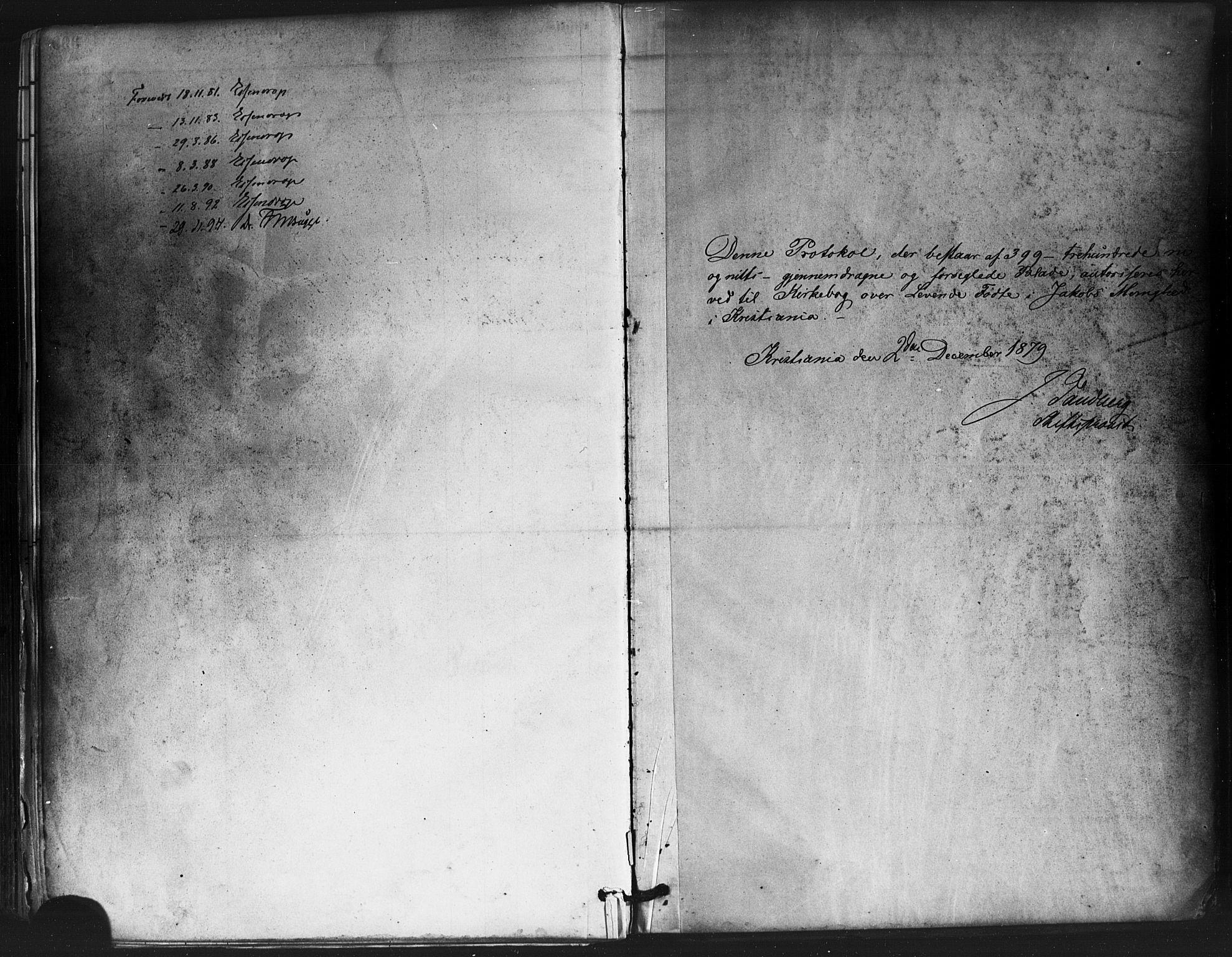 SAO, Jakob prestekontor Kirkebøker, F/Fa/L0003: Parish register (official) no. 3, 1880-1895