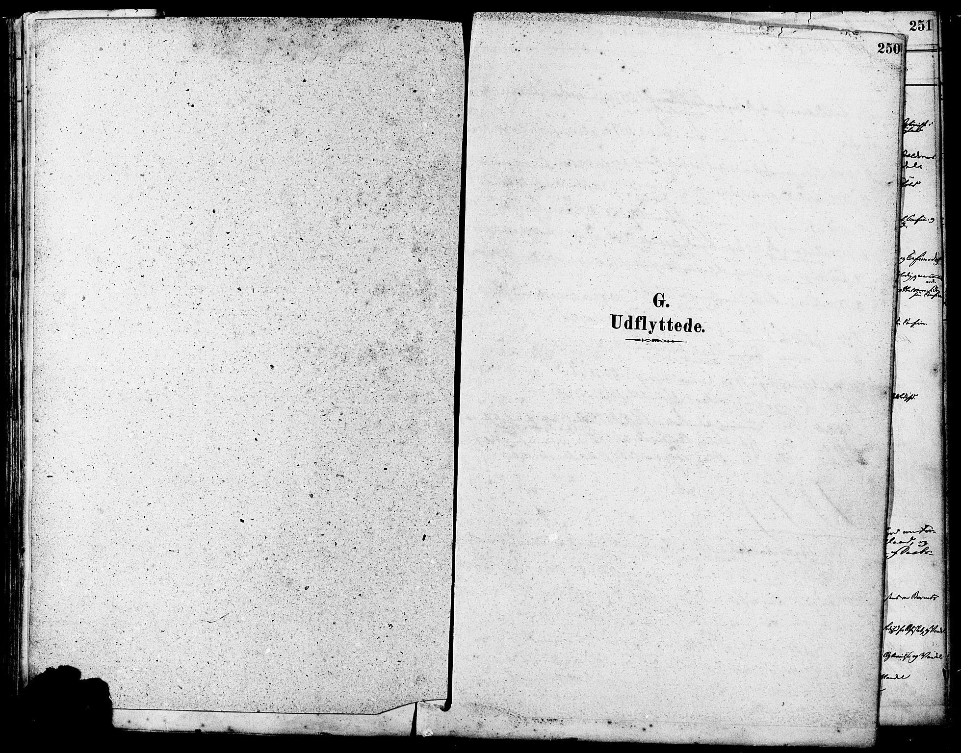 SAST, Høyland sokneprestkontor, 30BA/L0011: Parish register (official) no. A 10, 1878-1888, p. 250