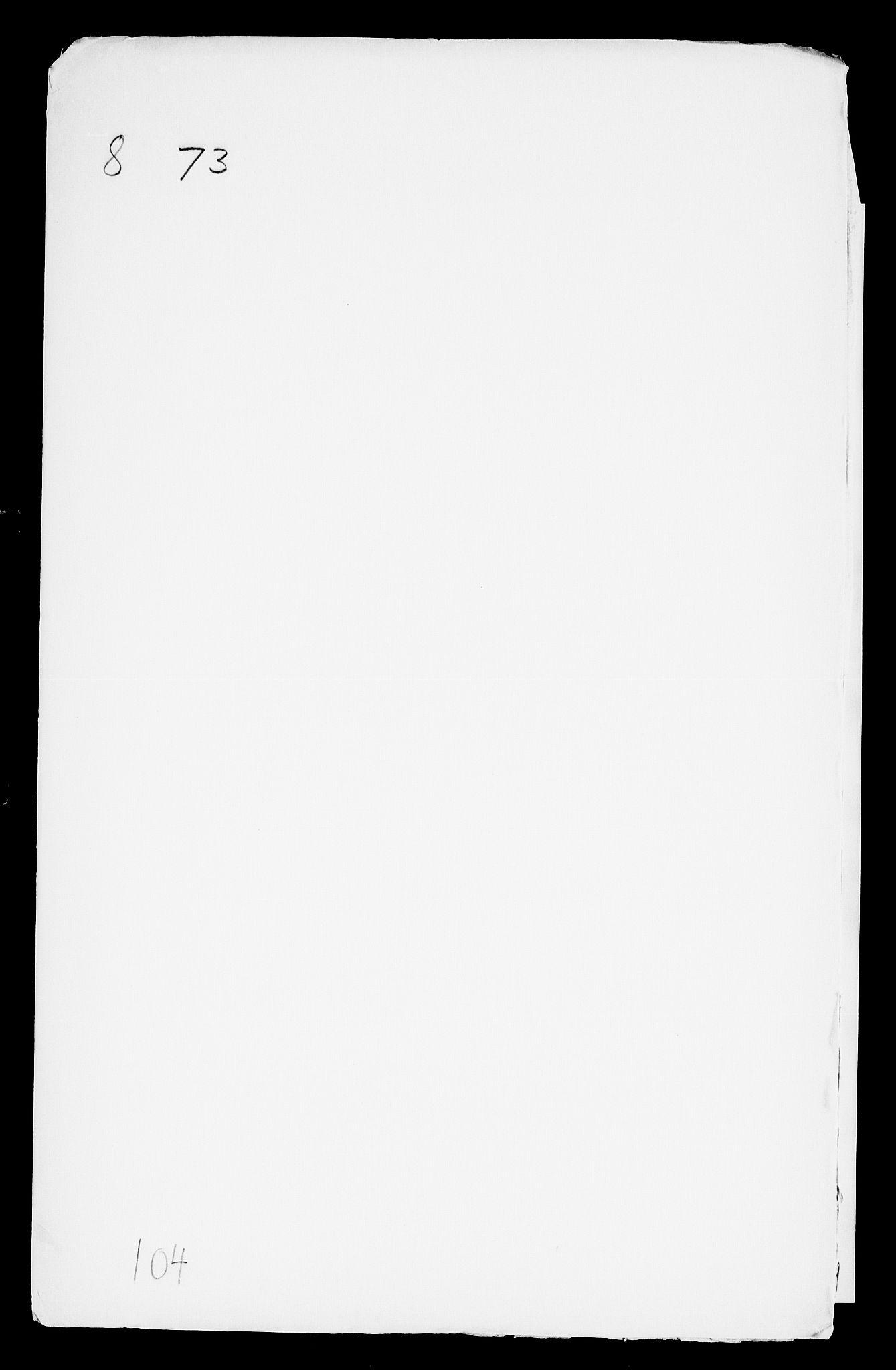 RA, Danske Kanselli, Skapsaker, F/L0003: Skap 8, pakke 73-95, 1616-1691, p. 2
