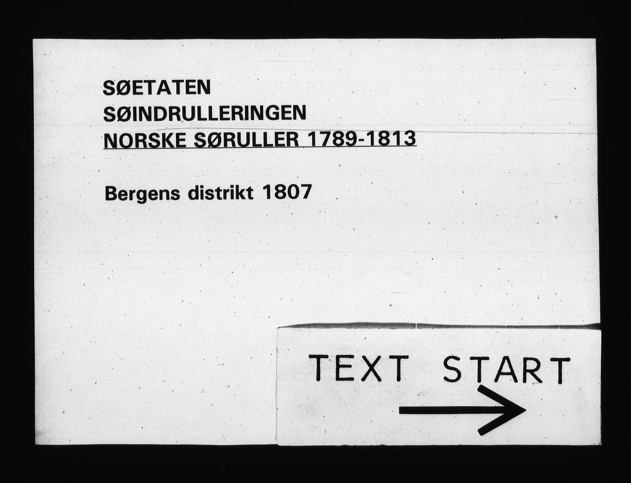 RA, Sjøetaten, F/L0246: Bergen distrikt, bind 1, 1807