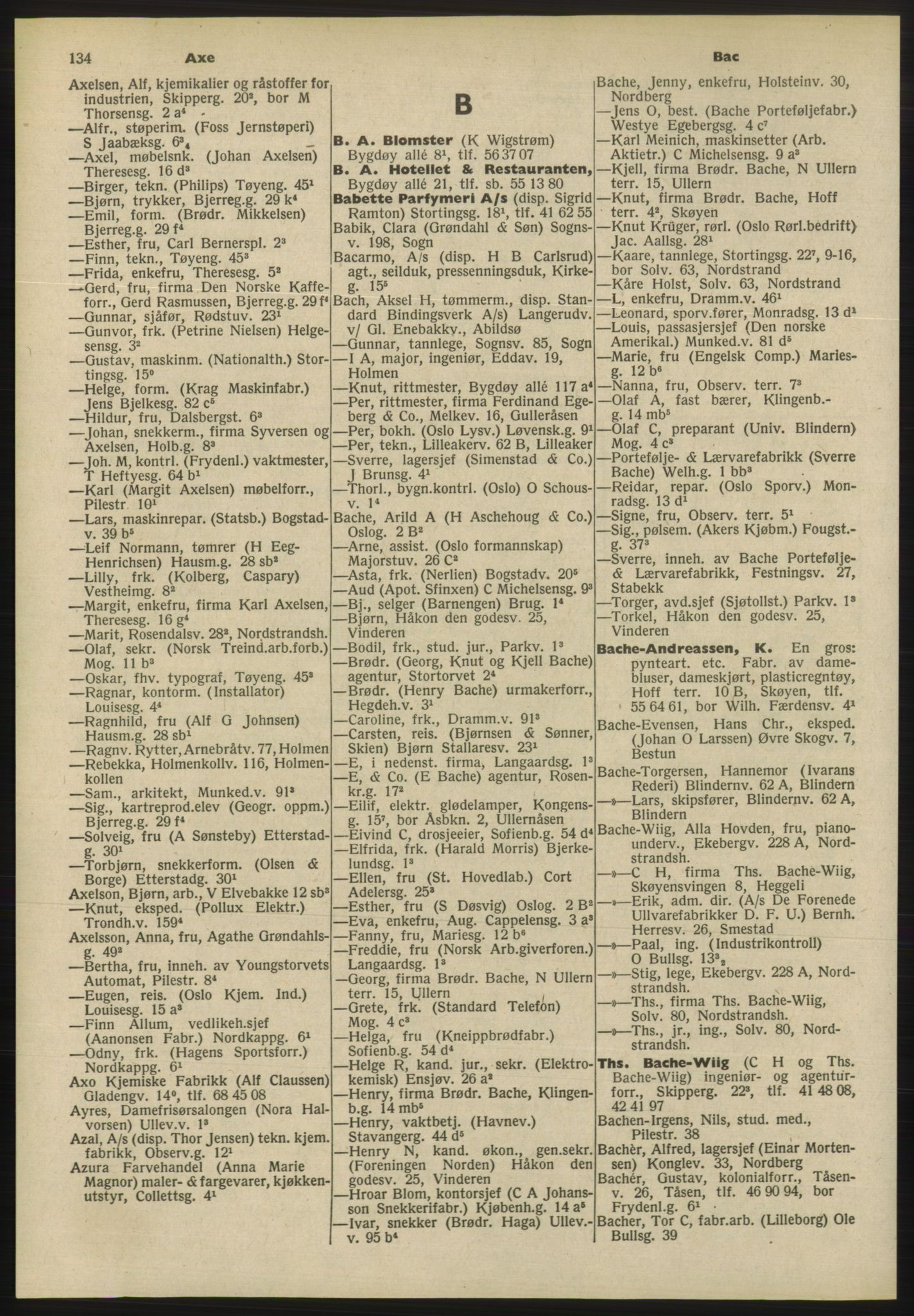 PUBL, Kristiania/Oslo adressebok, 1955, p. 134