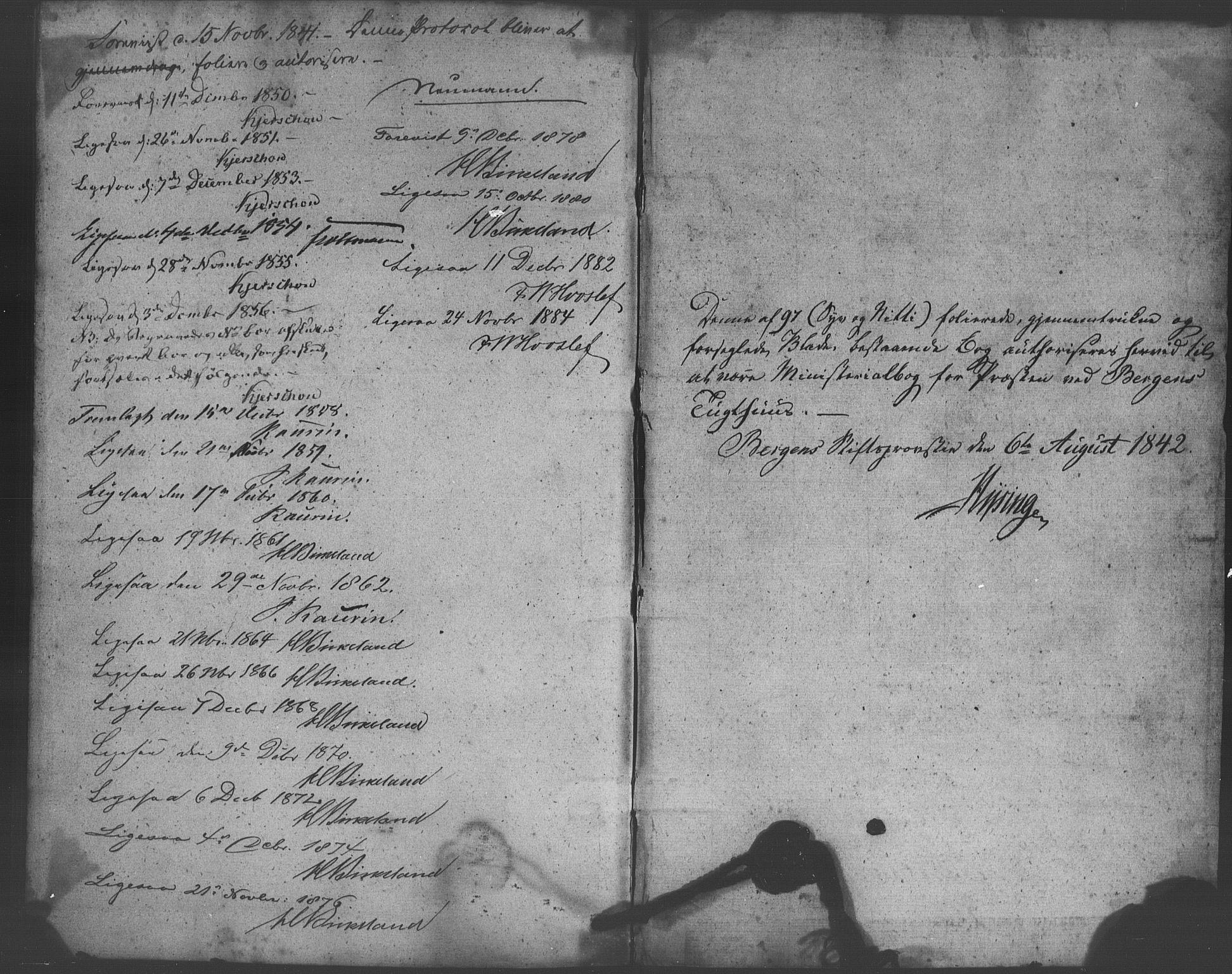 SAB, Bergens strafanstalts sokneprestembete*, Parish register (official) no. A 1, 1841-1884