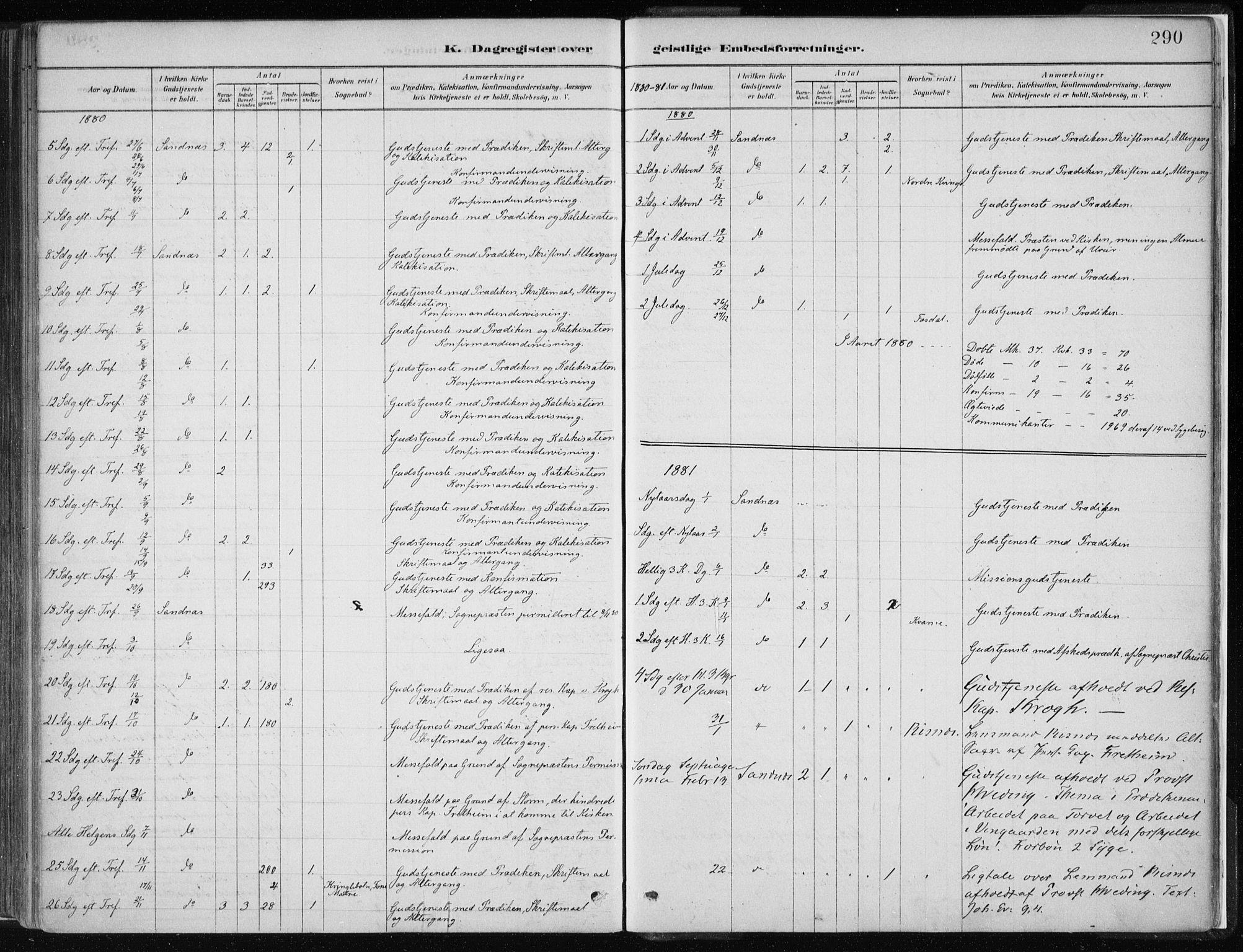 SAB, Masfjorden Soknepresembete, Parish register (official) no. B  1, 1876-1899, p. 290