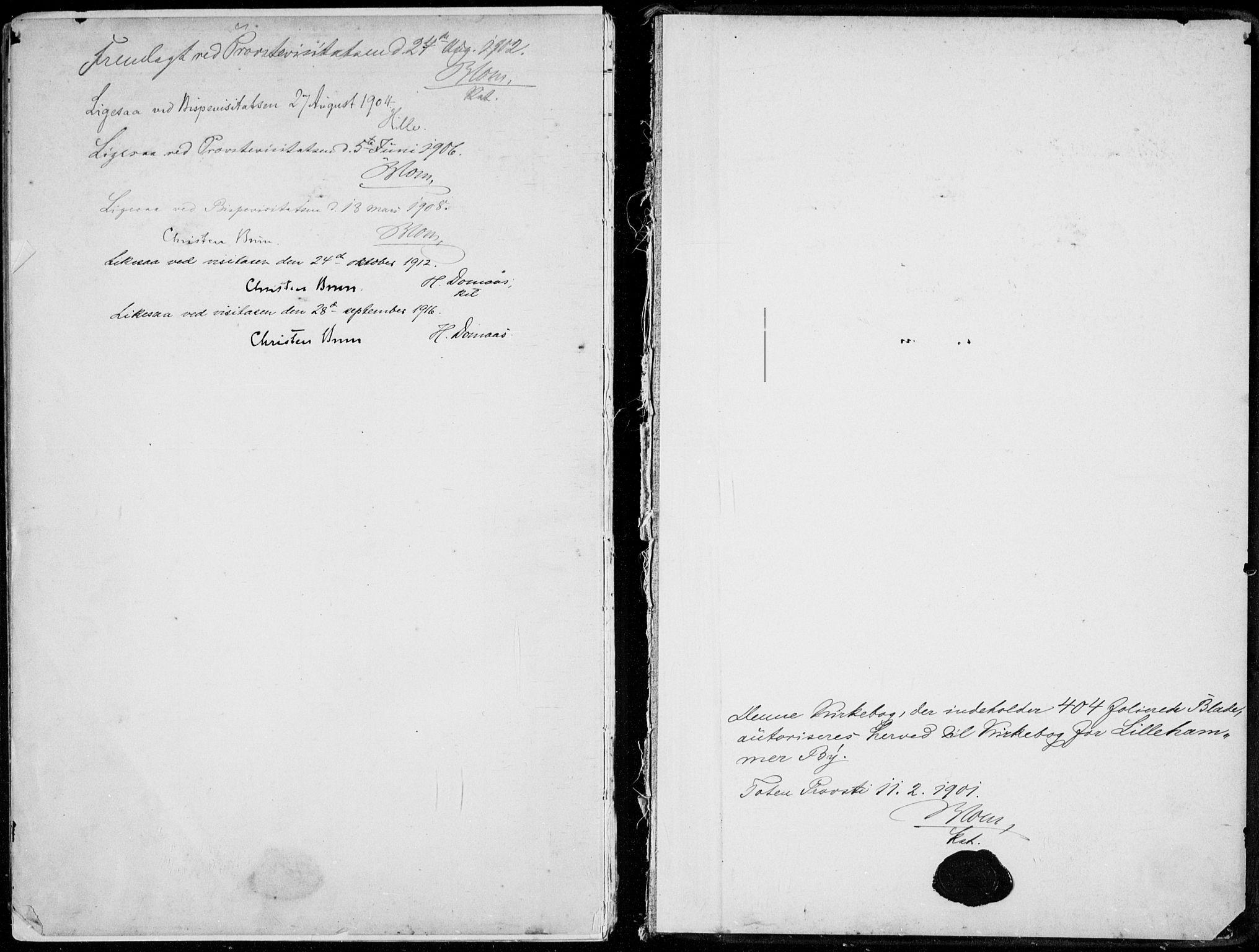 SAH, Lillehammer prestekontor, H/Ha/Haa/L0001: Parish register (official) no. 1, 1901-1916