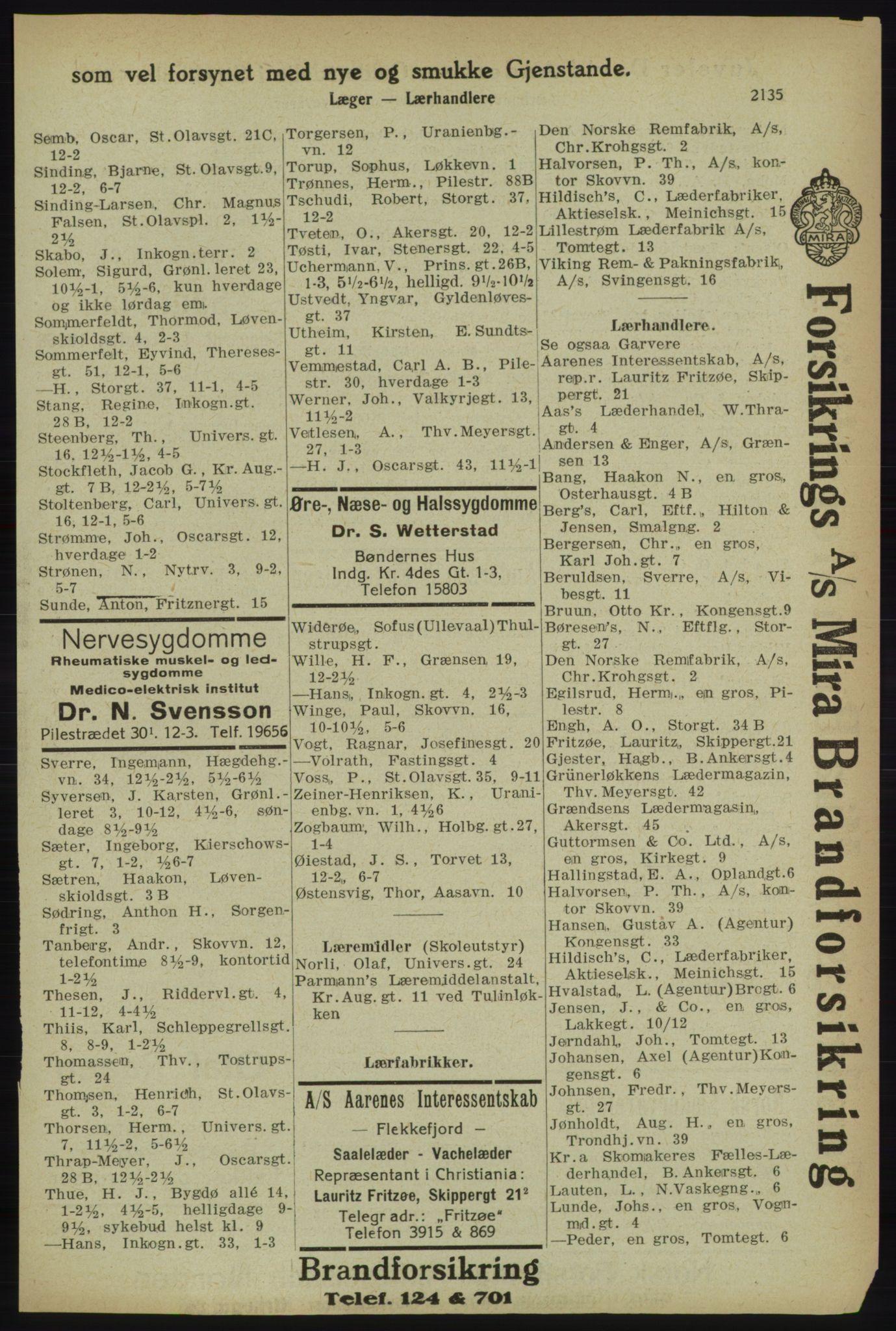 PUBL, Kristiania/Oslo adressebok, 1918, p. 2288