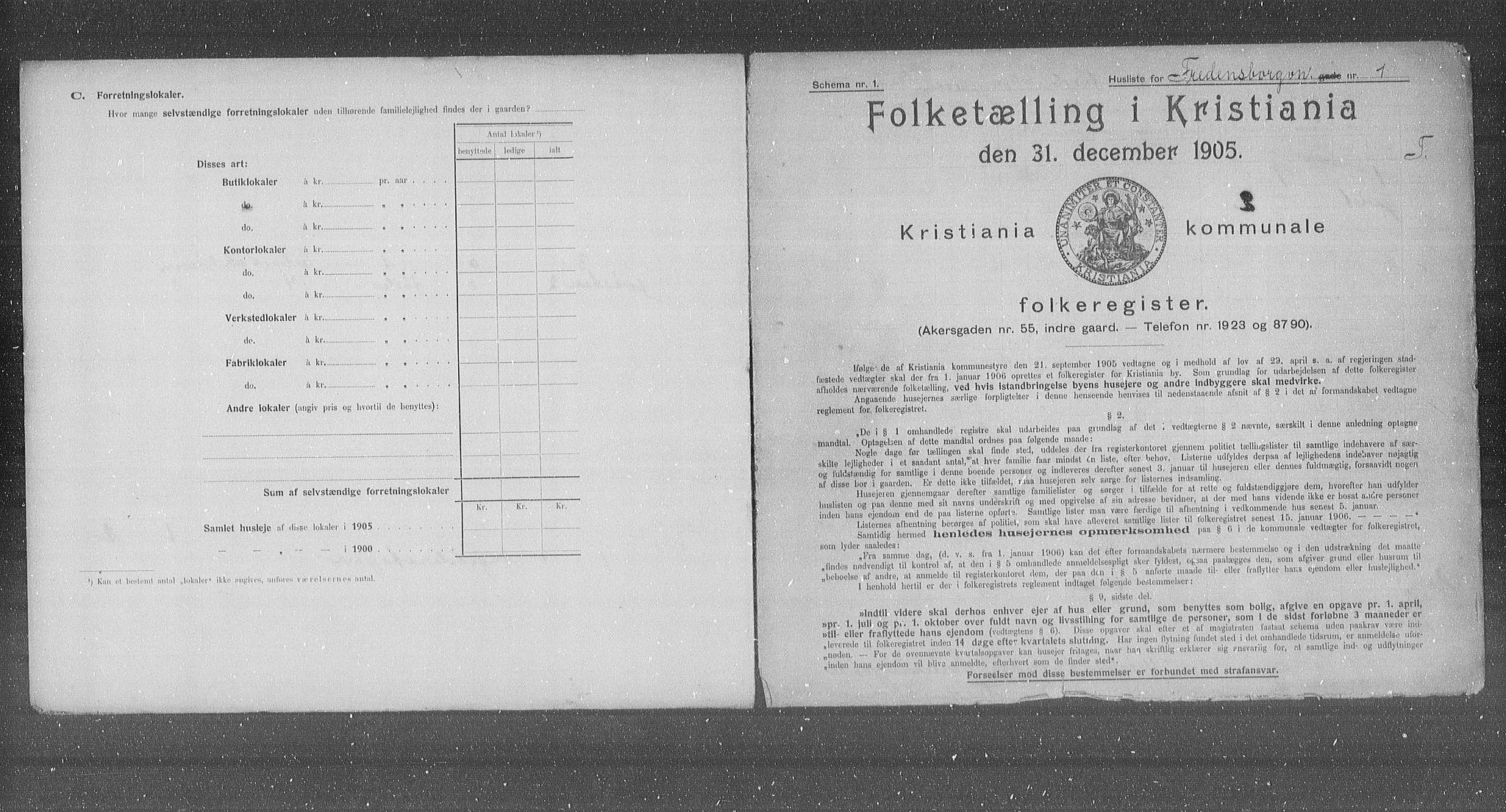 OBA, Municipal Census 1905 for Kristiania, 1905, p. 13199