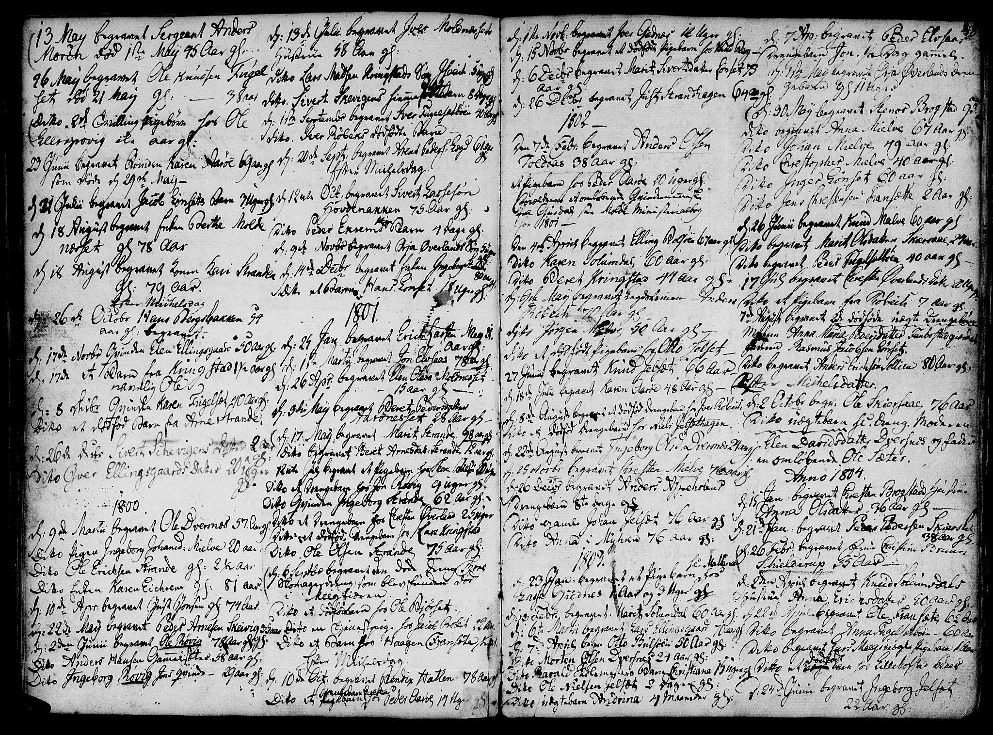 SAT, Ministerialprotokoller, klokkerbøker og fødselsregistre - Møre og Romsdal, 555/L0649: Parish register (official) no. 555A02 /1, 1795-1821, p. 48