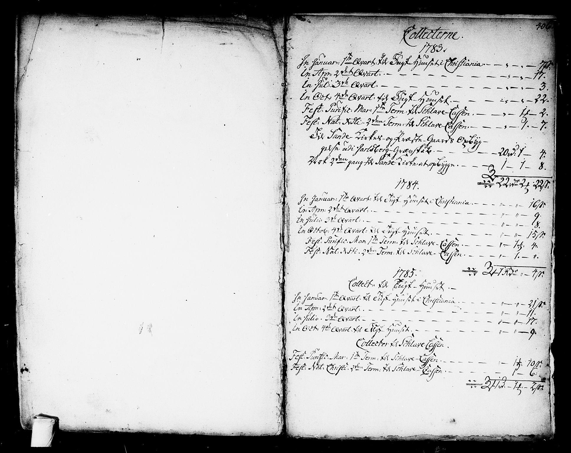 SAKO, Kongsberg kirkebøker, F/Fa/L0006: Parish register (official) no. I 6, 1783-1797, p. 406