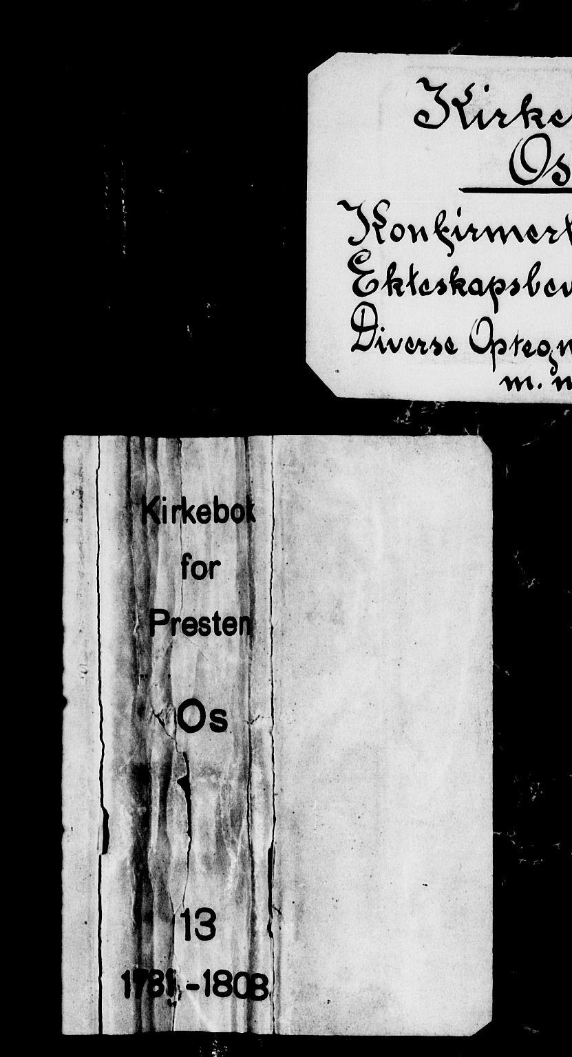 SAB, Os sokneprestembete*, Parish register (official) no. A 13, 1783-1810