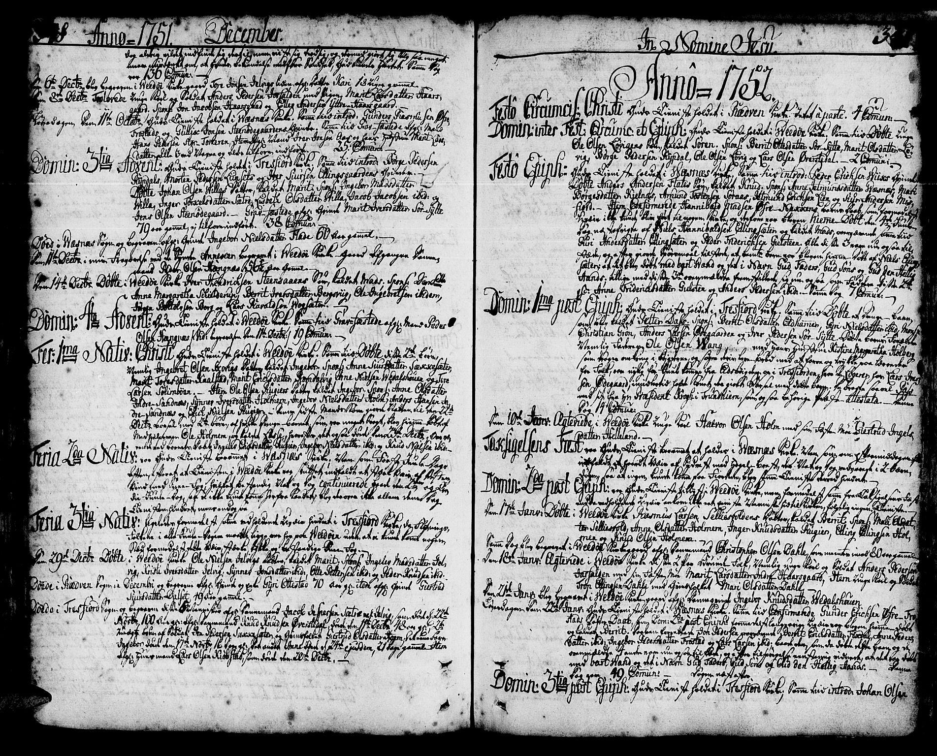 SAT, Ministerialprotokoller, klokkerbøker og fødselsregistre - Møre og Romsdal, 547/L0599: Parish register (official) no. 547A01, 1721-1764, p. 348-349