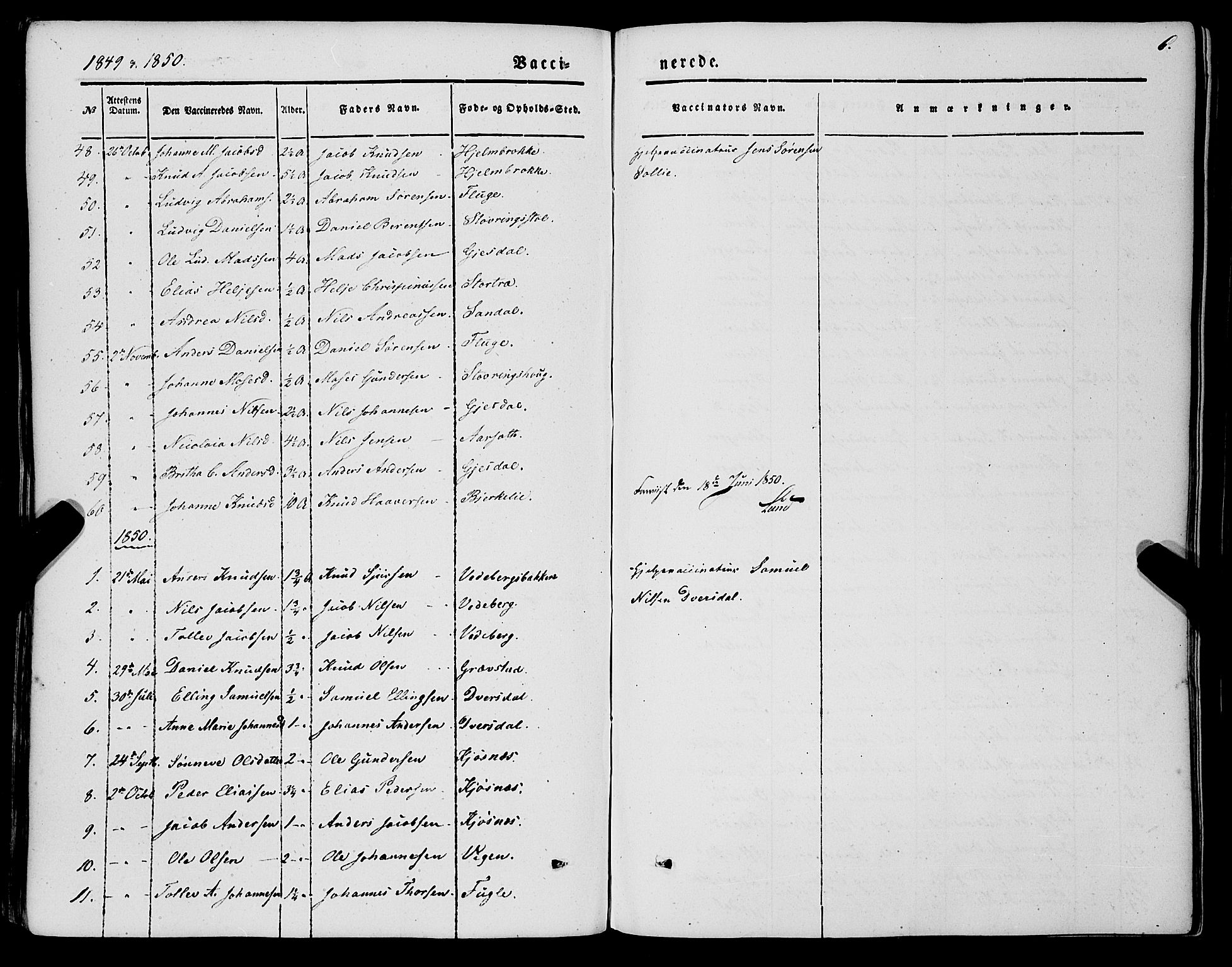 SAB, Jølster sokneprestembete, H/Haa/Haaa/L0010: Parish register (official) no. A 10, 1847-1865, p. 6