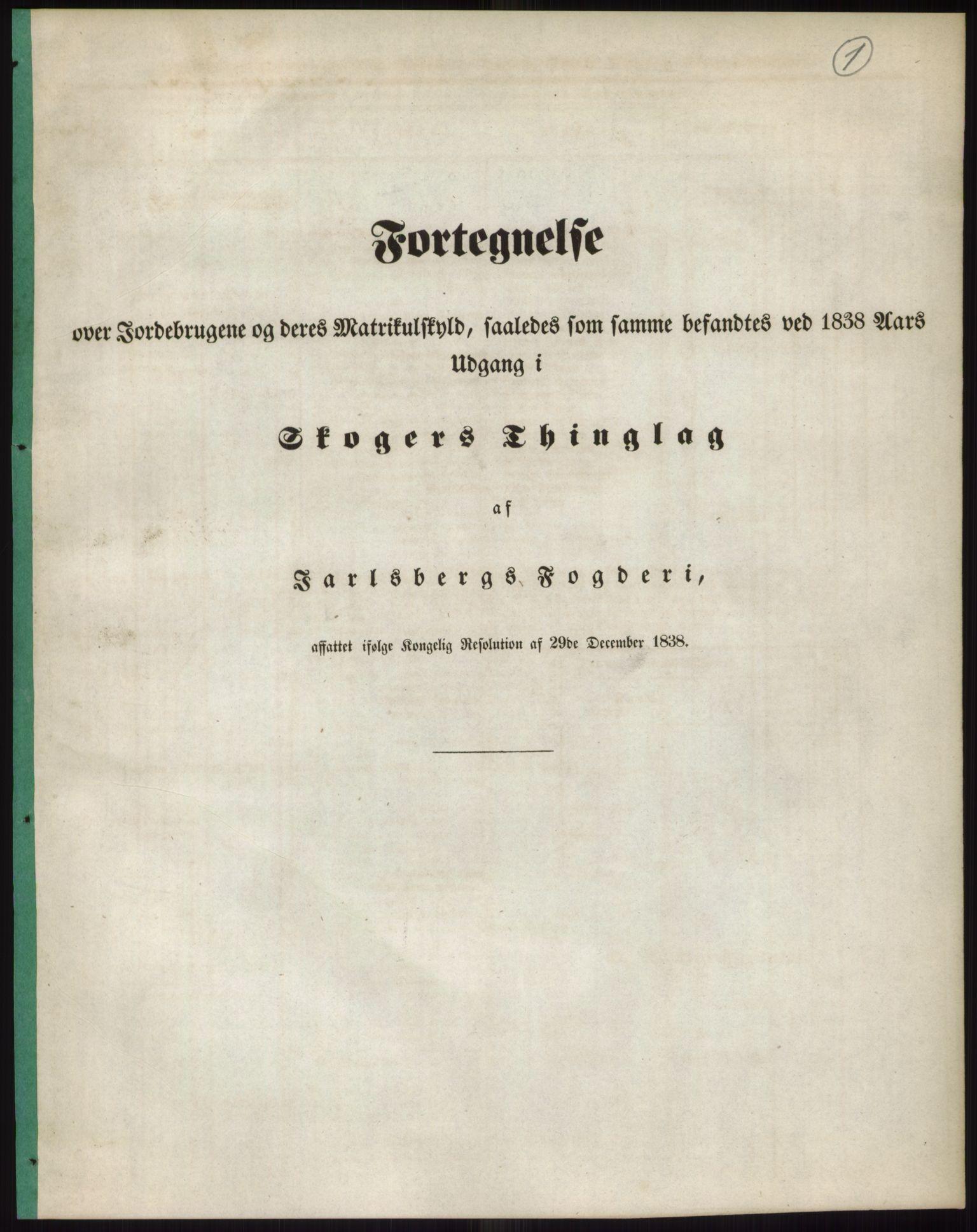 PUBL, Andre publikasjoner, -/Bind 6: Jarlsberg og Larvik amt, 1838, p. 2