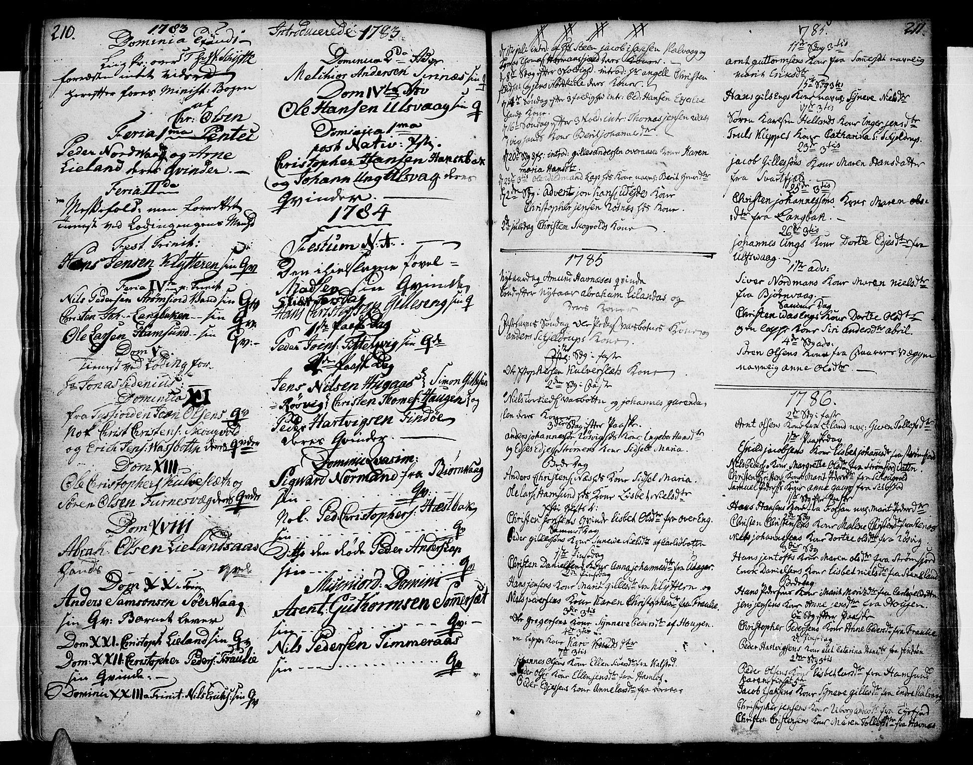 SAT, Ministerialprotokoller, klokkerbøker og fødselsregistre - Nordland, 859/L0841: Parish register (official) no. 859A01, 1766-1821, p. 210-211