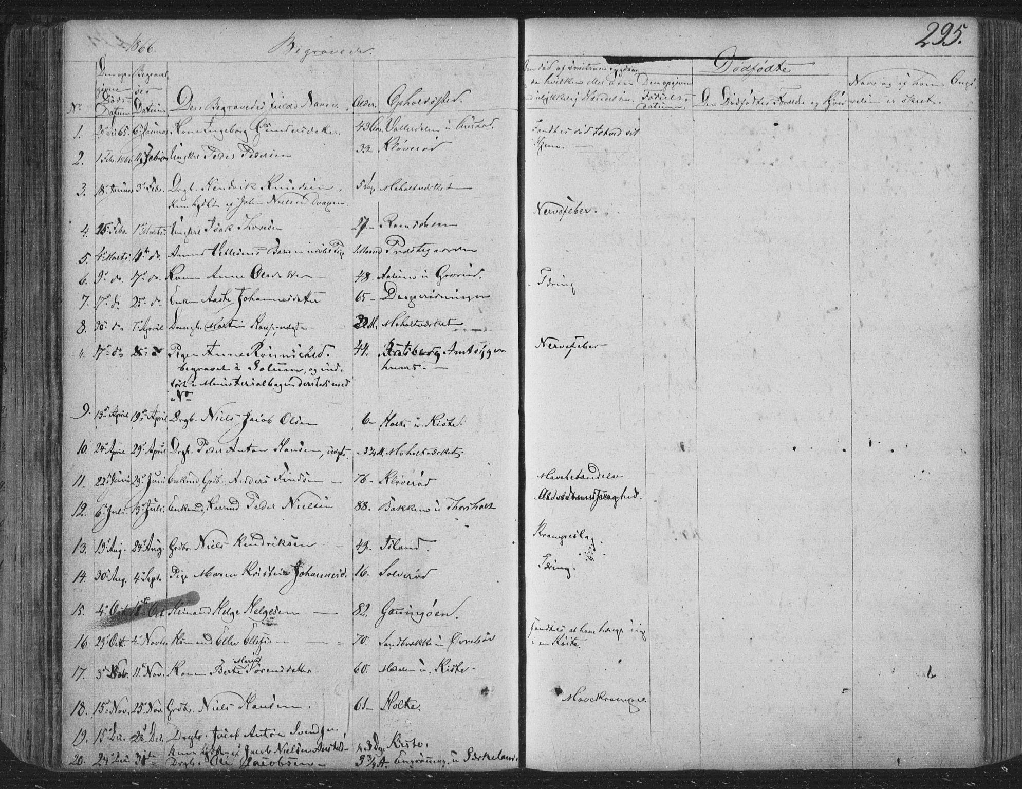 SAKO, Siljan kirkebøker, F/Fa/L0001: Parish register (official) no. 1, 1831-1870, p. 295