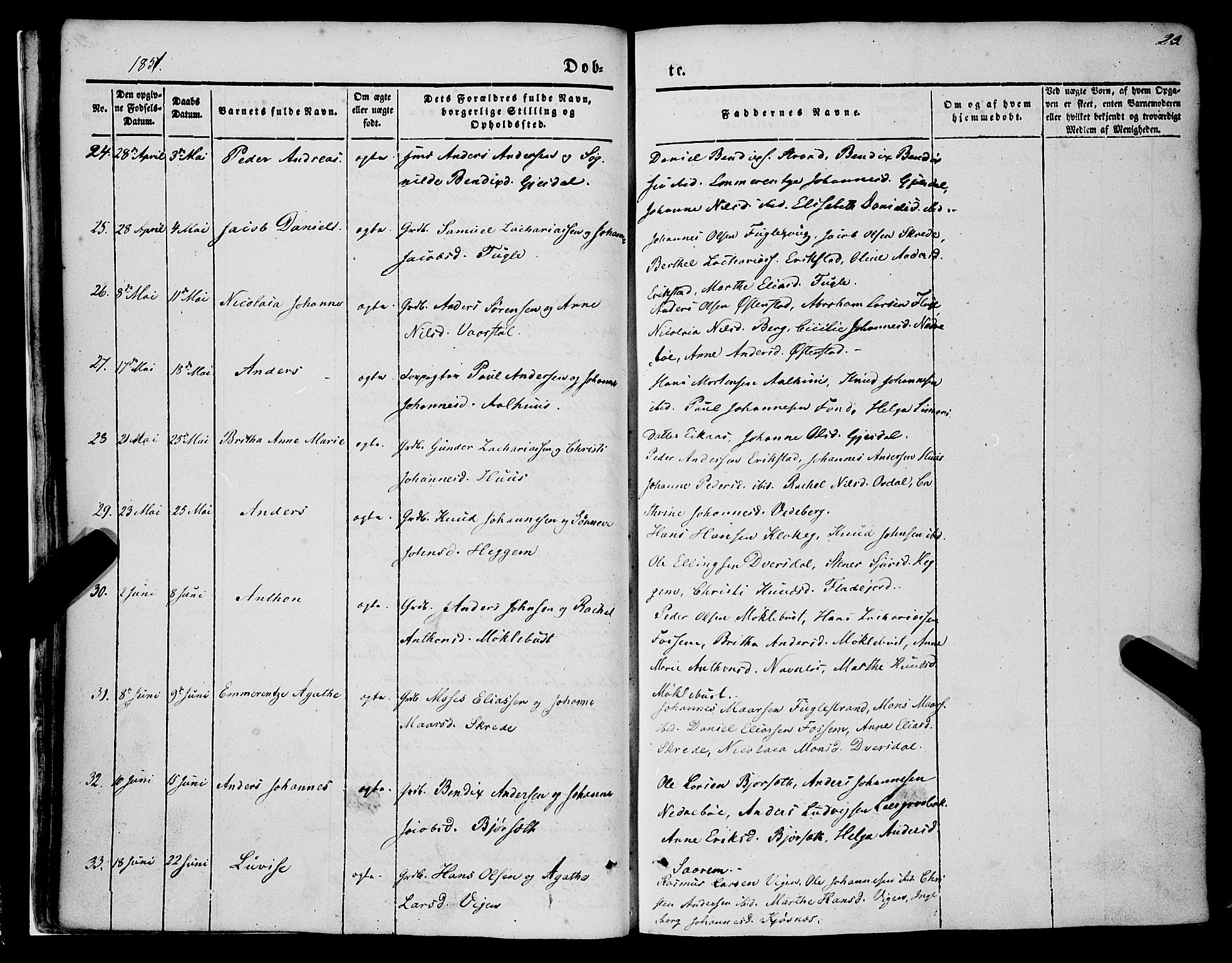 SAB, Jølster Sokneprestembete, H/Haa/Haaa/L0010: Parish register (official) no. A 10, 1847-1865, p. 23