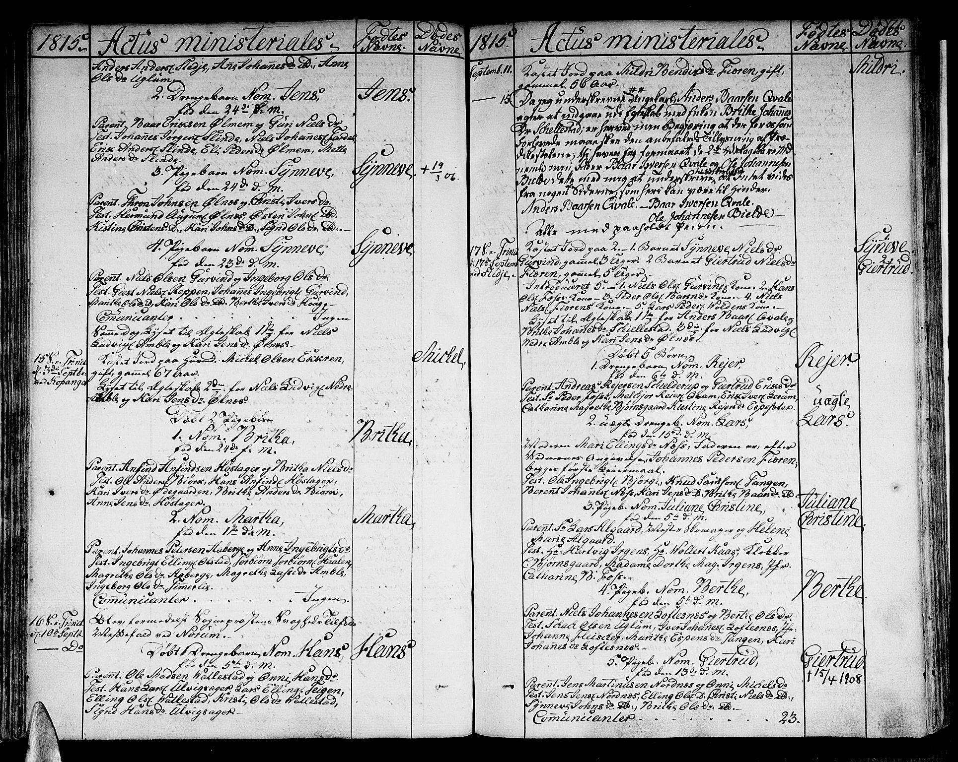 SAB, Sogndal sokneprestembete, H/Haa/Haaa/L0009: Parish register (official) no. A 9, 1809-1821, p. 71