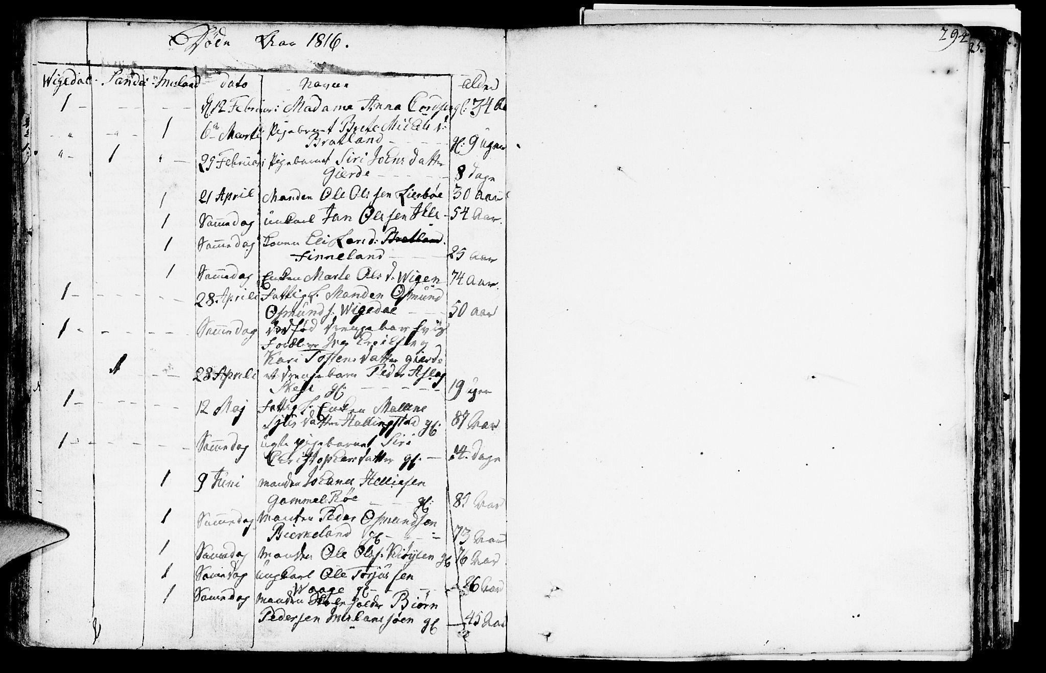 SAST, Vikedal sokneprestkontor, IV: Parish register (official) no. A 2, 1779-1817, p. 294
