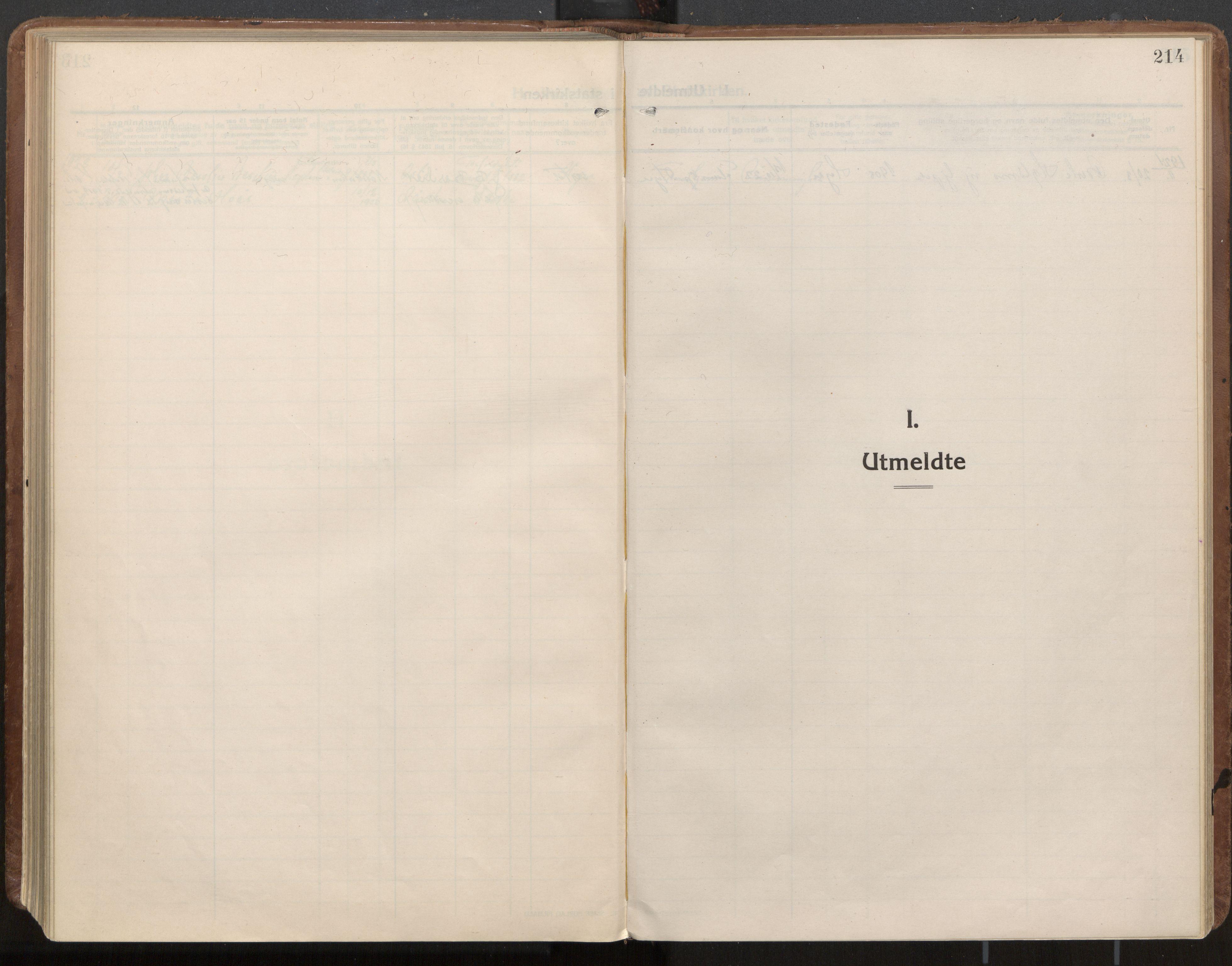 SAT, Ministerialprotokoller, klokkerbøker og fødselsregistre - Nord-Trøndelag, 703/L0037: Parish register (official) no. 703A10, 1915-1932, p. 214