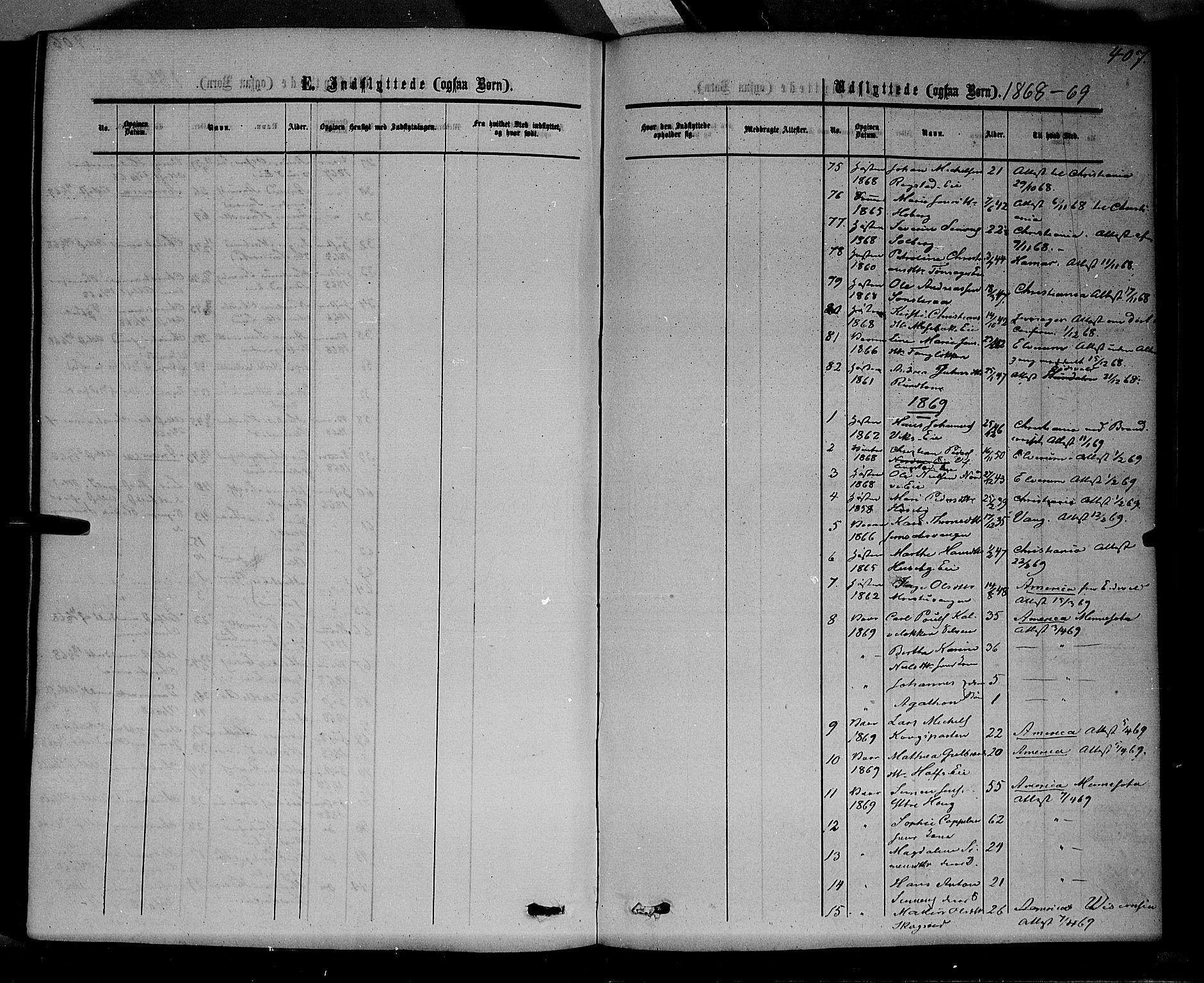 SAH, Stange prestekontor, K/L0013: Parish register (official) no. 13, 1862-1879, p. 407