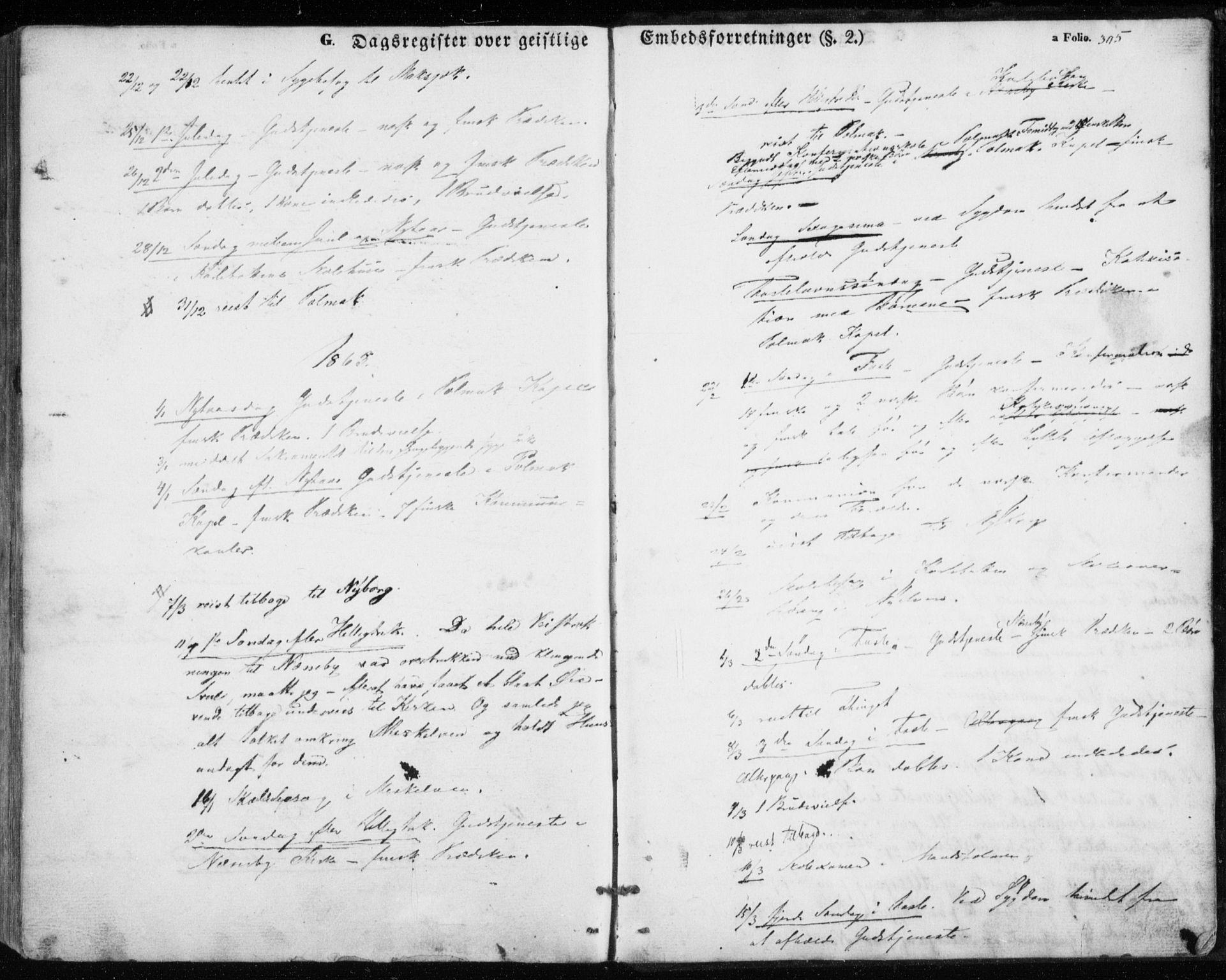 SATØ, Nesseby sokneprestkontor, H/Ha/L0002kirke: Parish register (official) no. 2, 1856-1864, p. 305