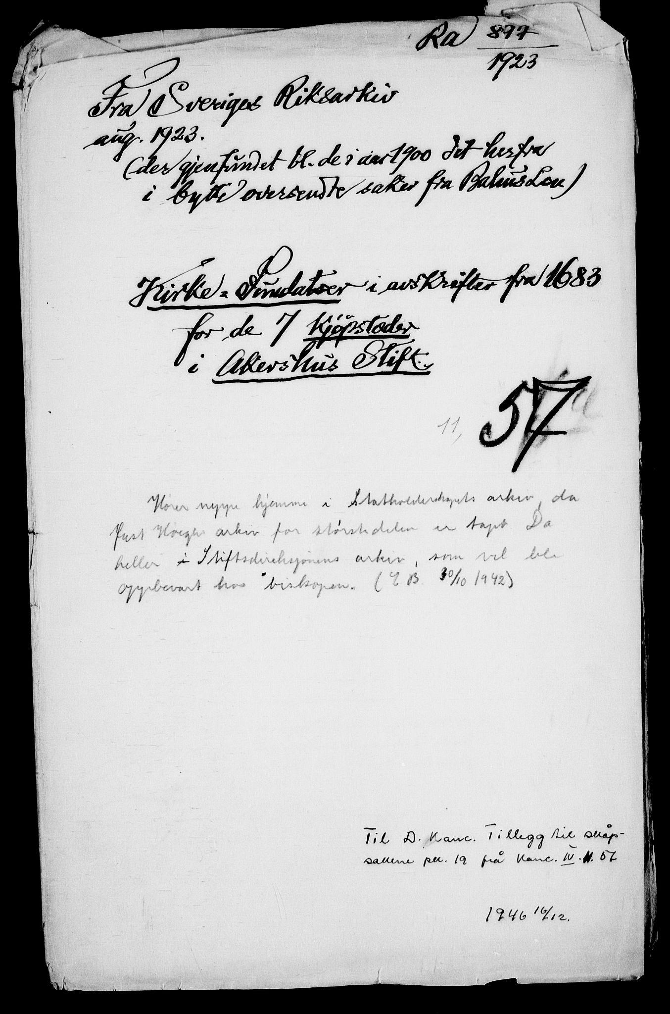 RA, Danske Kanselli, Skapsaker, G/L0019: Tillegg til skapsakene, 1616-1753, p. 206