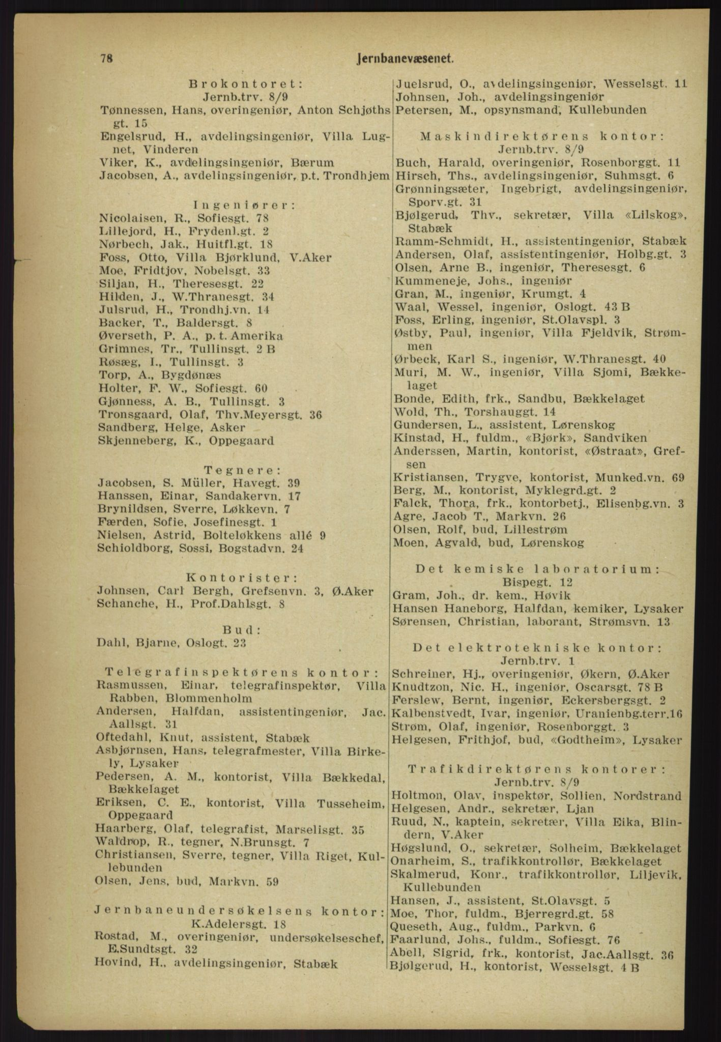 PUBL, Kristiania/Oslo adressebok, 1918, p. 85