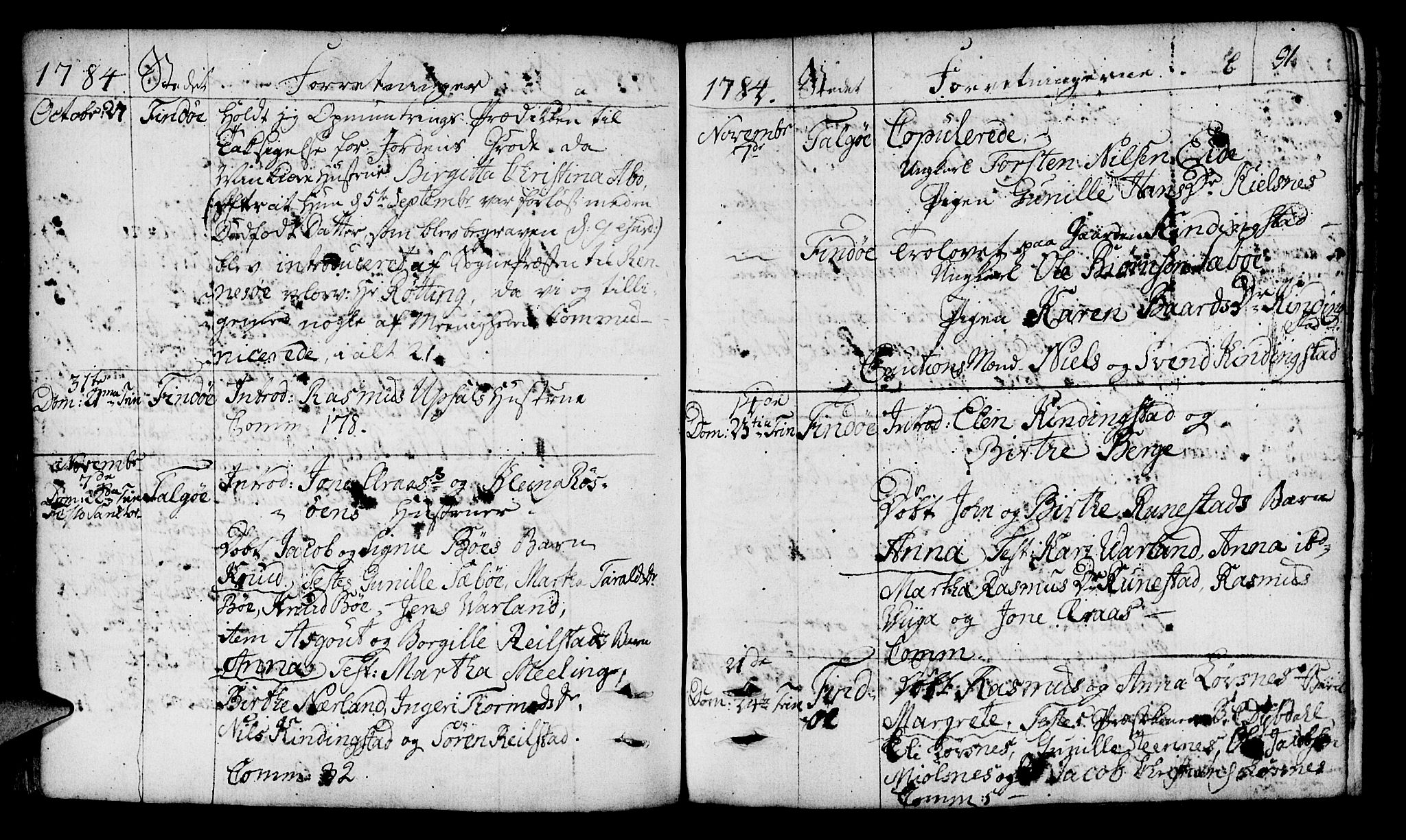 SAST, Finnøy sokneprestkontor, H/Ha/Haa/L0005: Parish register (official) no. A 5, 1773-1816, p. 91
