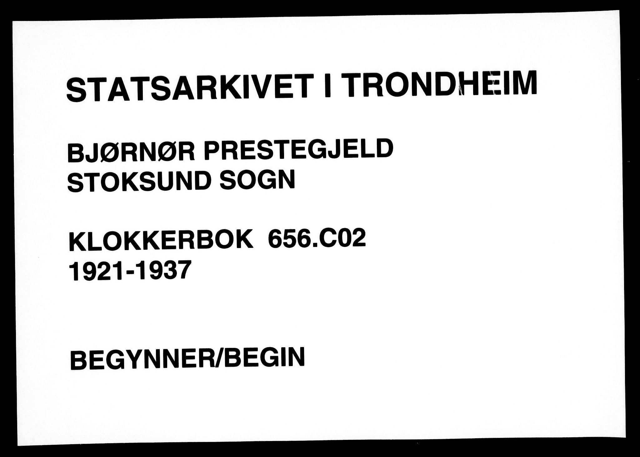 SAT, Ministerialprotokoller, klokkerbøker og fødselsregistre - Sør-Trøndelag, 656/L0696: Parish register (copy) no. 656C02, 1921-1937