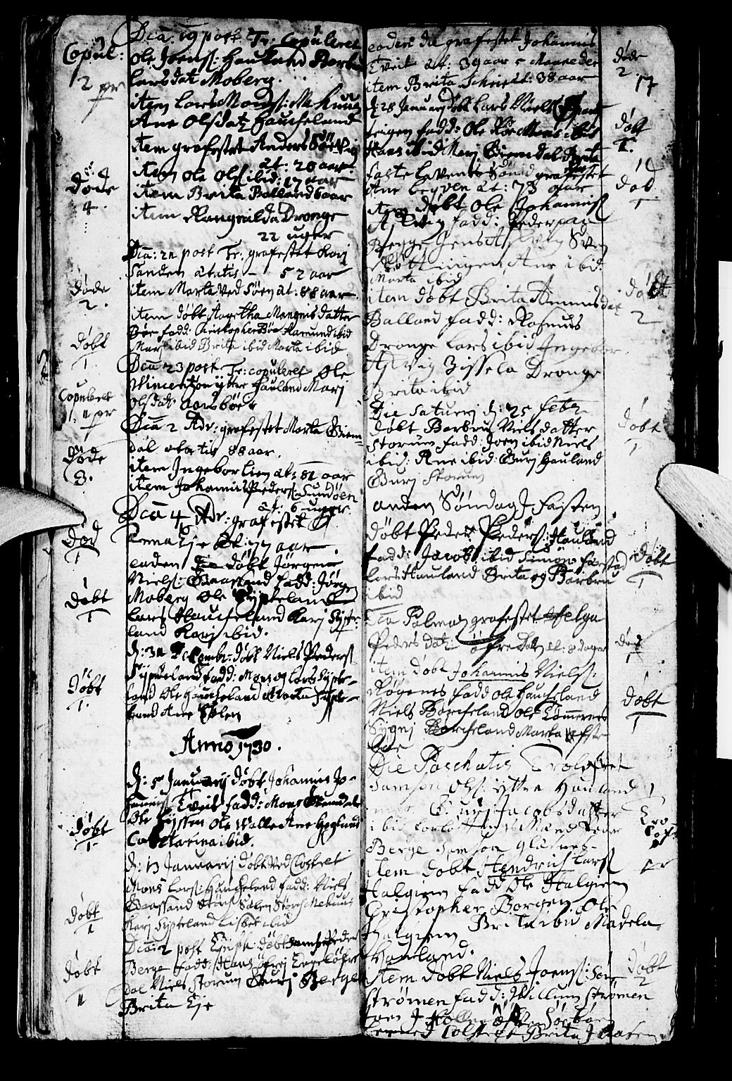 SAB, Os sokneprestembete*, Parish register (official) no. A 2, 1723-1758, p. 17