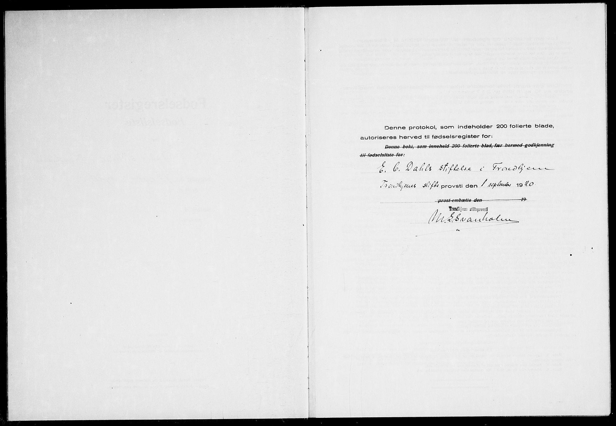 SAT, Ministerialprotokoller, klokkerbøker og fødselsregistre - Sør-Trøndelag, 600/L0003: Birth register no. 600.II.4.2, 1920-1924