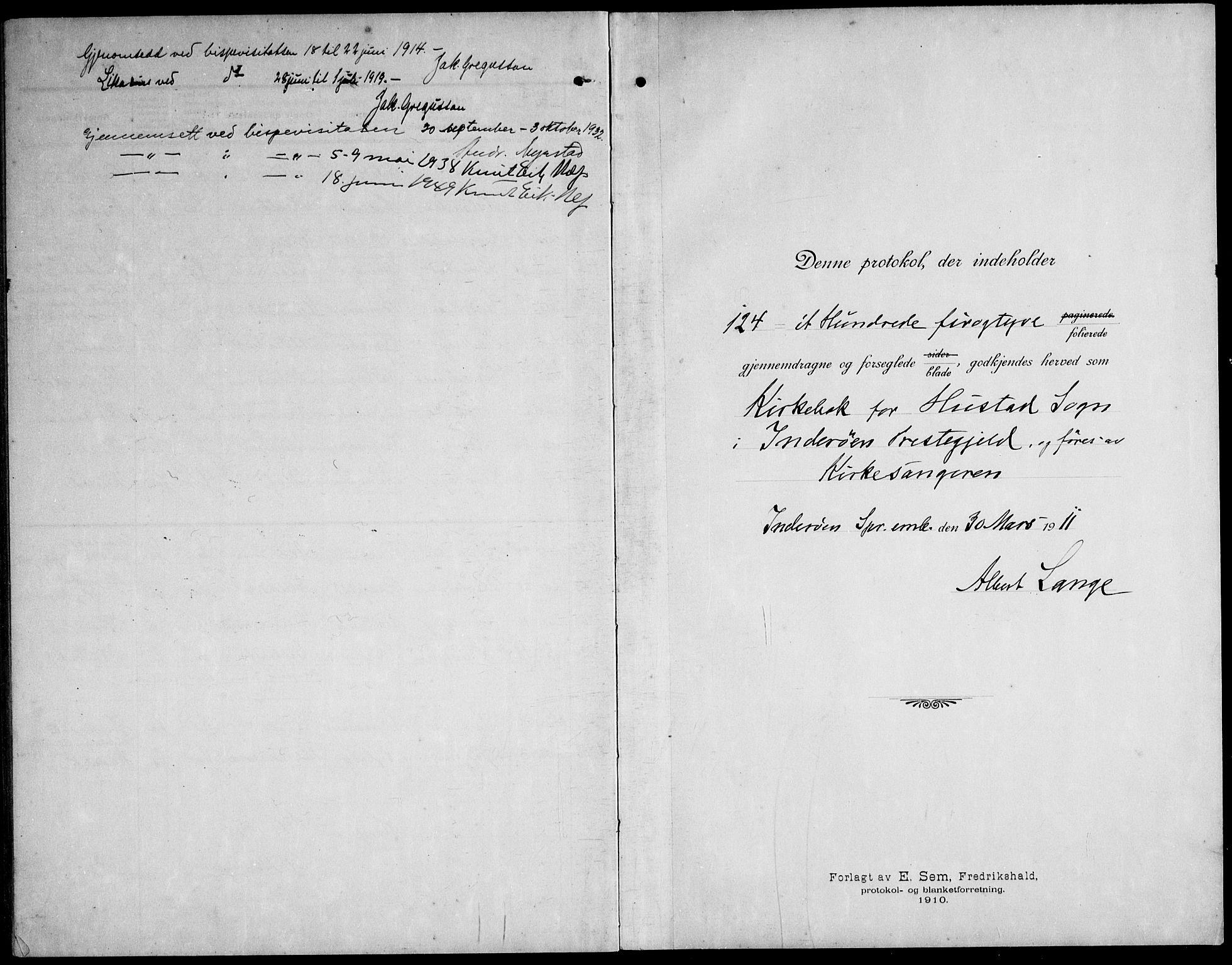 SAT, Ministerialprotokoller, klokkerbøker og fødselsregistre - Nord-Trøndelag, 732/L0319: Parish register (copy) no. 732C03, 1911-1945