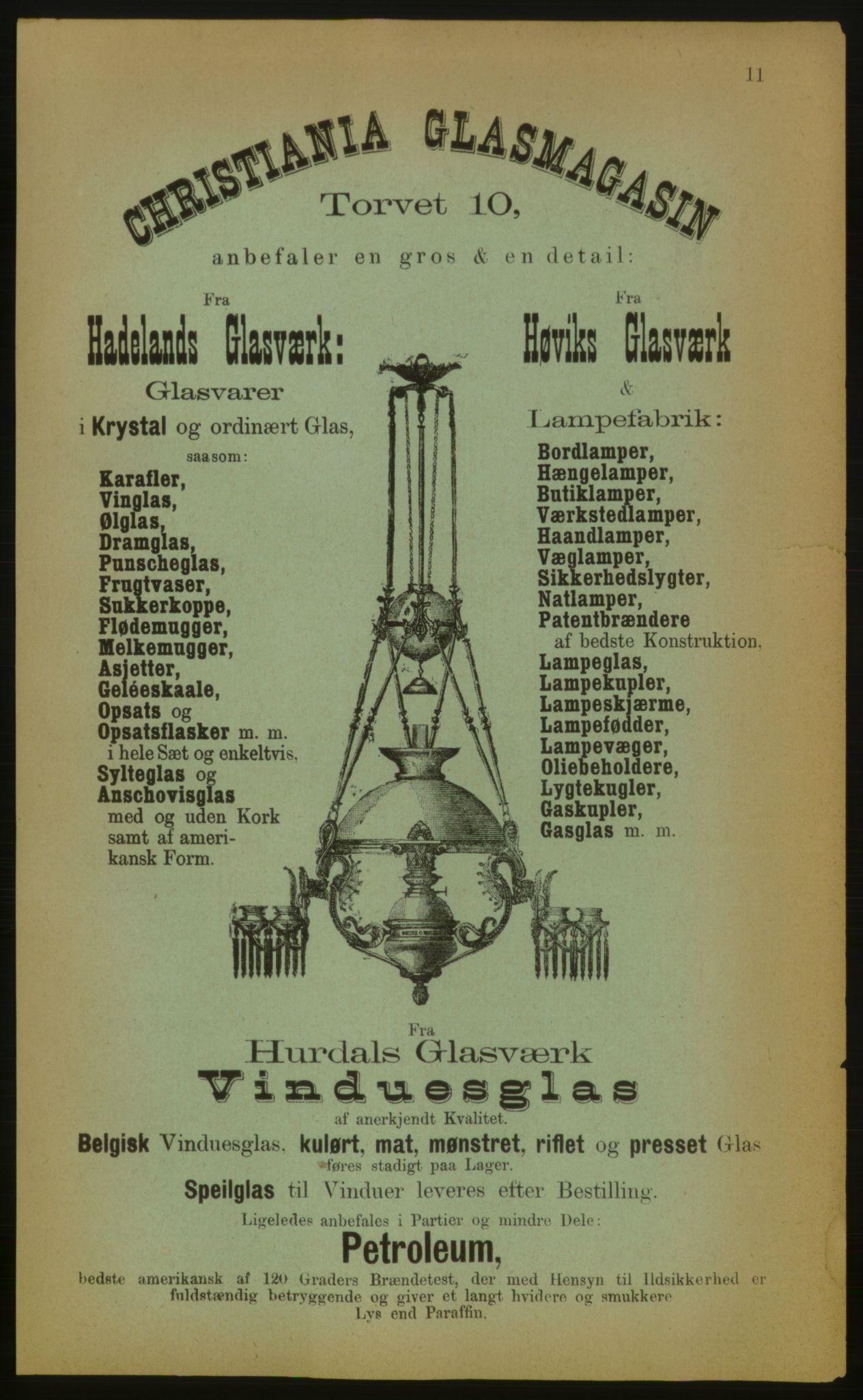 PUBL, Kristiania/Oslo adressebok, 1883, p. 11