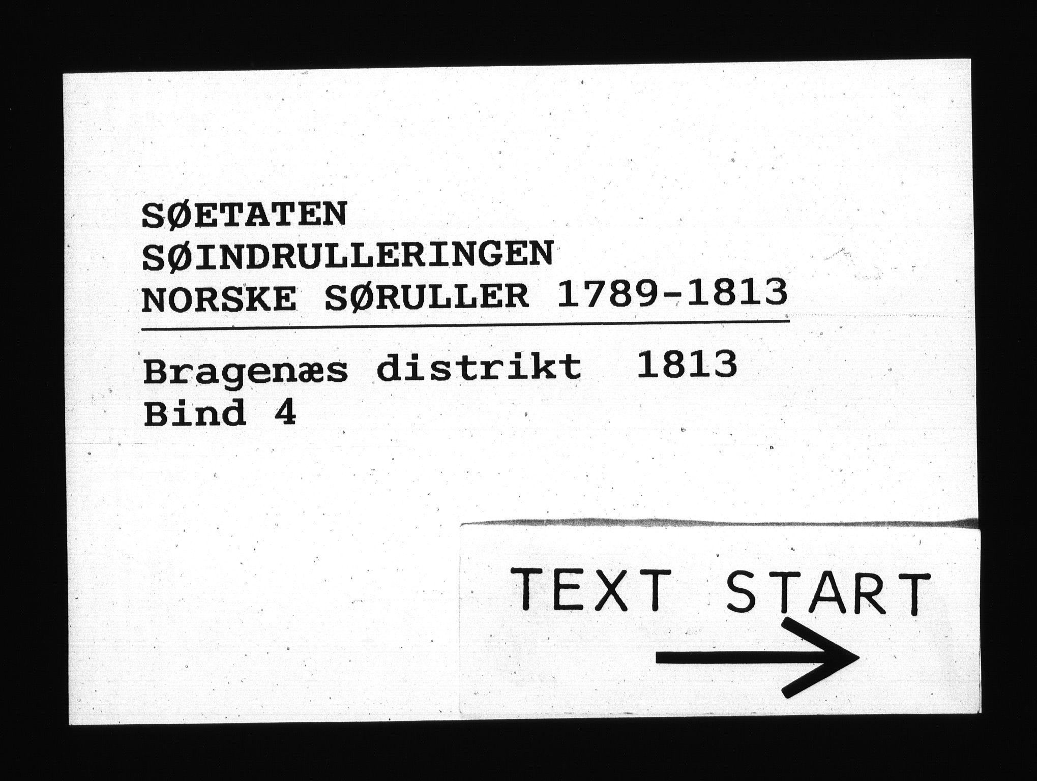RA, Sjøetaten, F/L0171: Bragernes distrikt, bind 4, 1813