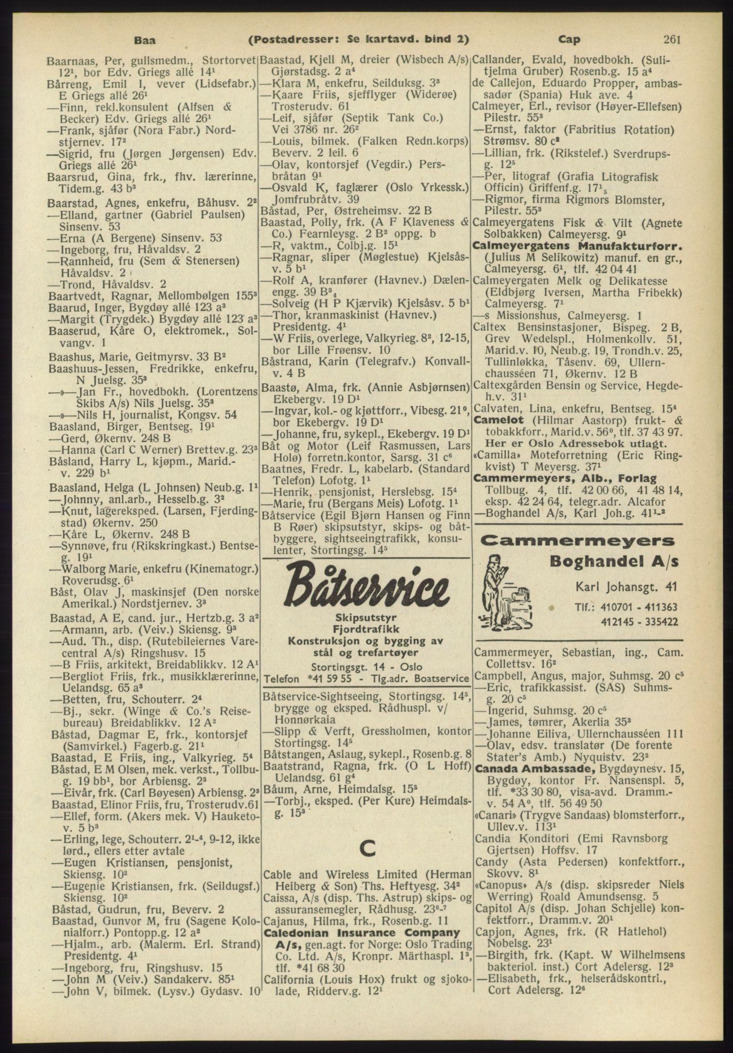PUBL, Kristiania/Oslo adressebok, 1960-1961, p. 261