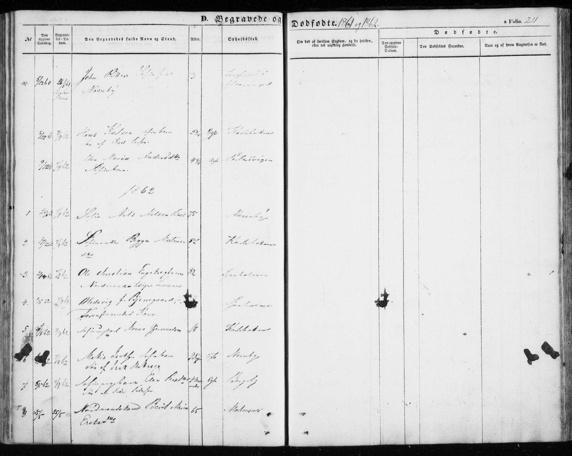 SATØ, Nesseby sokneprestkontor, H/Ha/L0002kirke: Parish register (official) no. 2, 1856-1864, p. 211