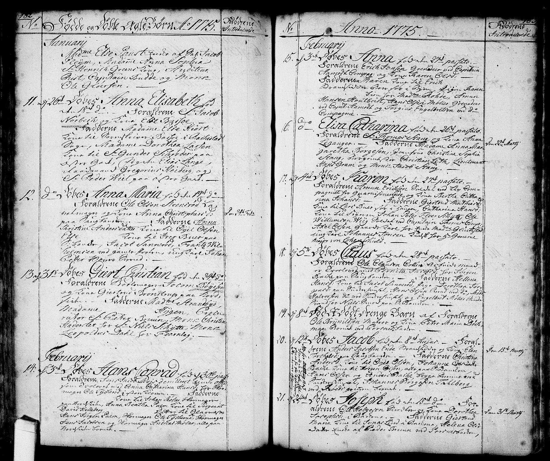 SAO, Halden prestekontor Kirkebøker, F/Fa/L0001: Parish register (official) no. I 1, 1758-1791, p. 182-183