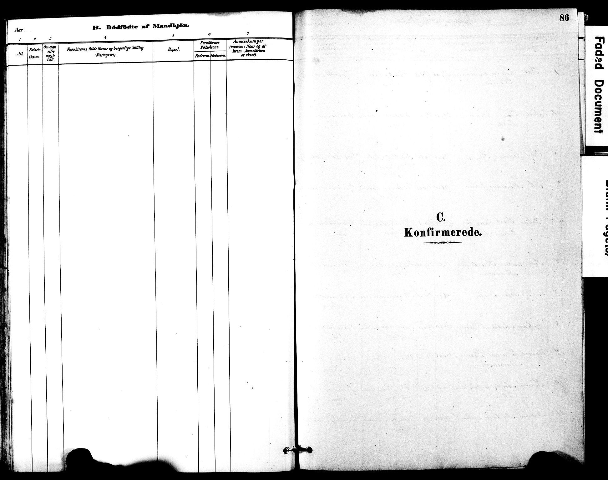SAT, Ministerialprotokoller, klokkerbøker og fødselsregistre - Møre og Romsdal, 525/L0374: Parish register (official) no. 525A04, 1880-1899, p. 86
