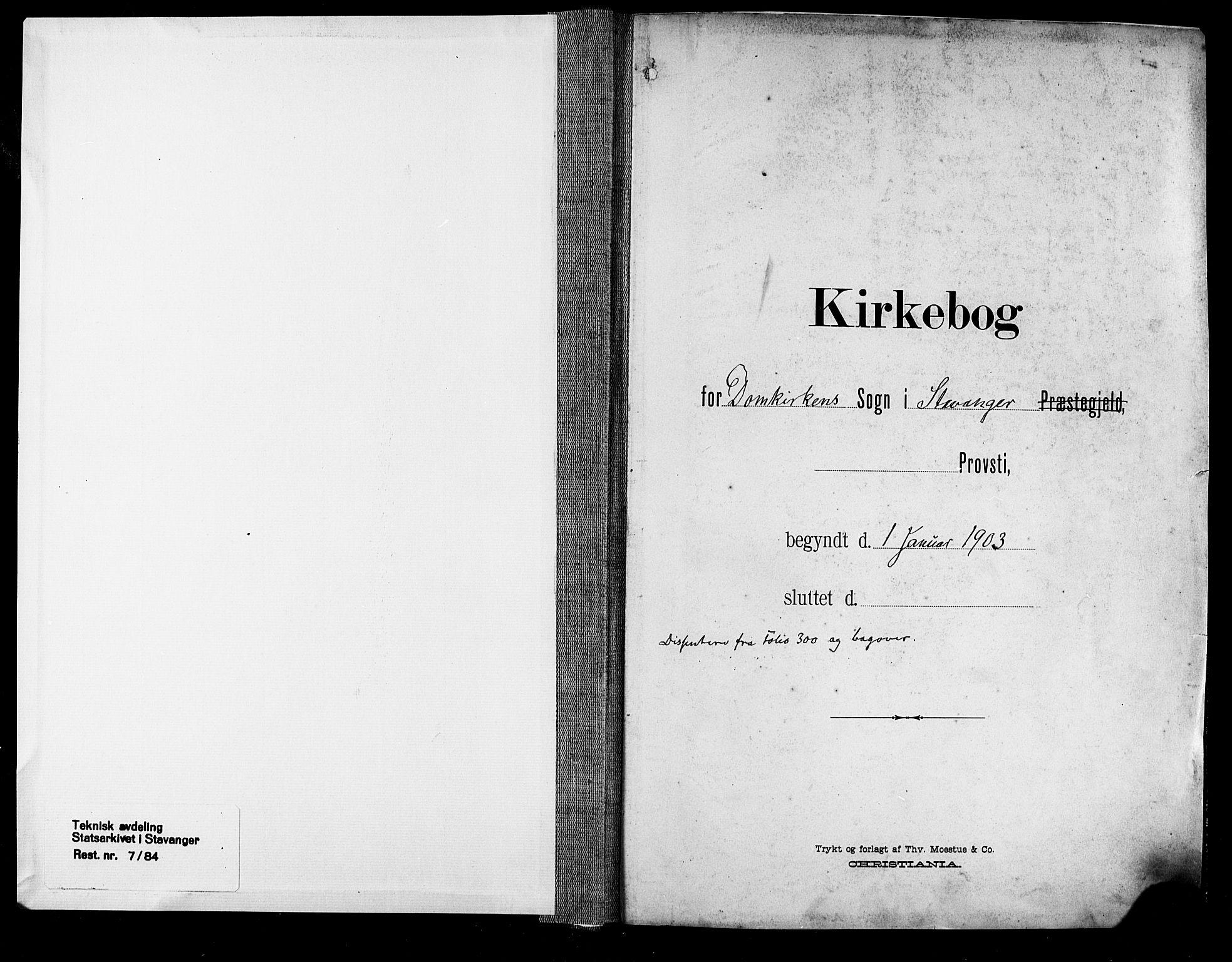 SAST, Domkirken sokneprestkontor, 30/30BA/L0033: Parish register (official) no. A 32, 1903-1915