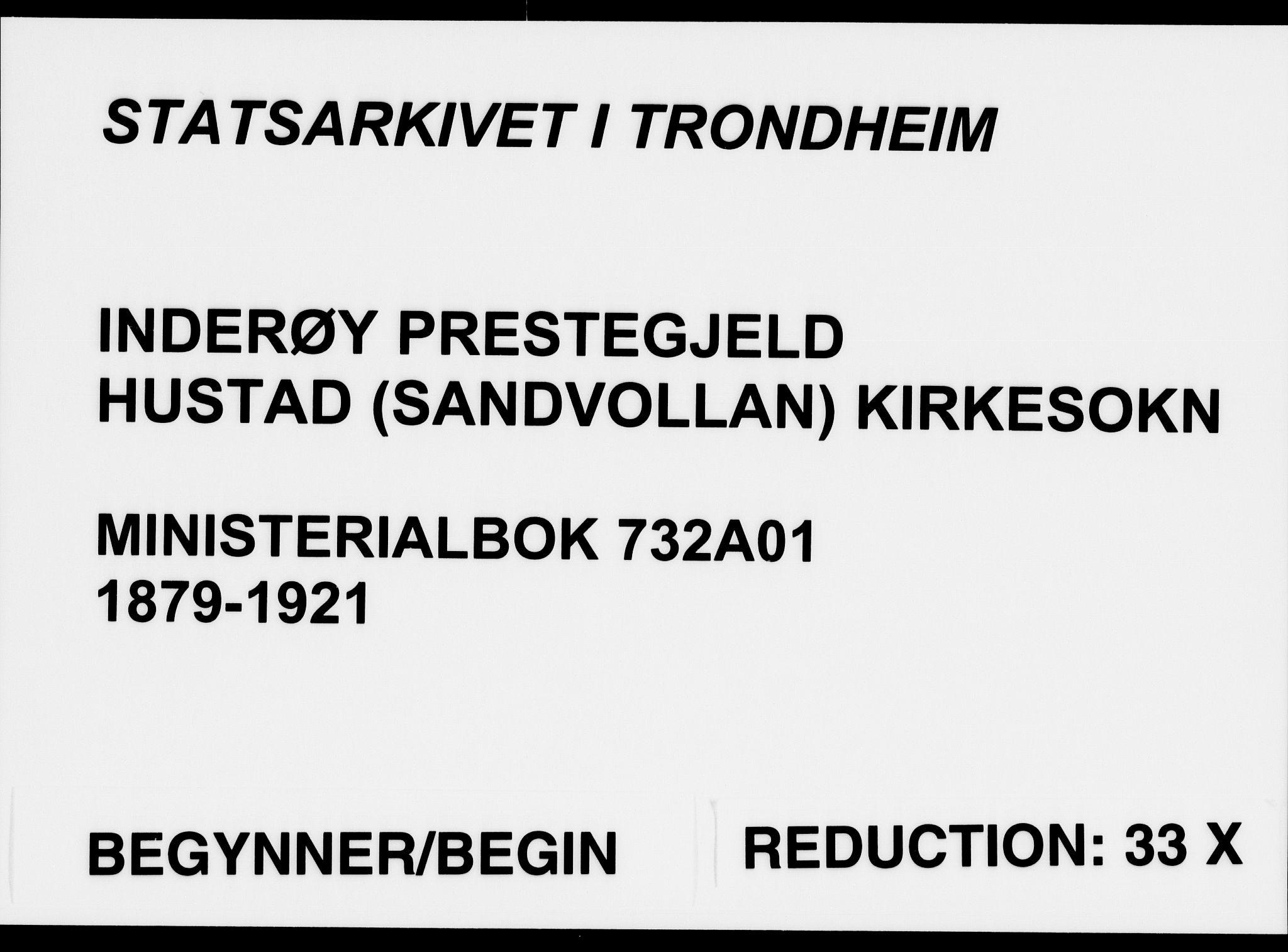 SAT, Ministerialprotokoller, klokkerbøker og fødselsregistre - Nord-Trøndelag, 732/L0316: Parish register (official) no. 732A01, 1879-1921