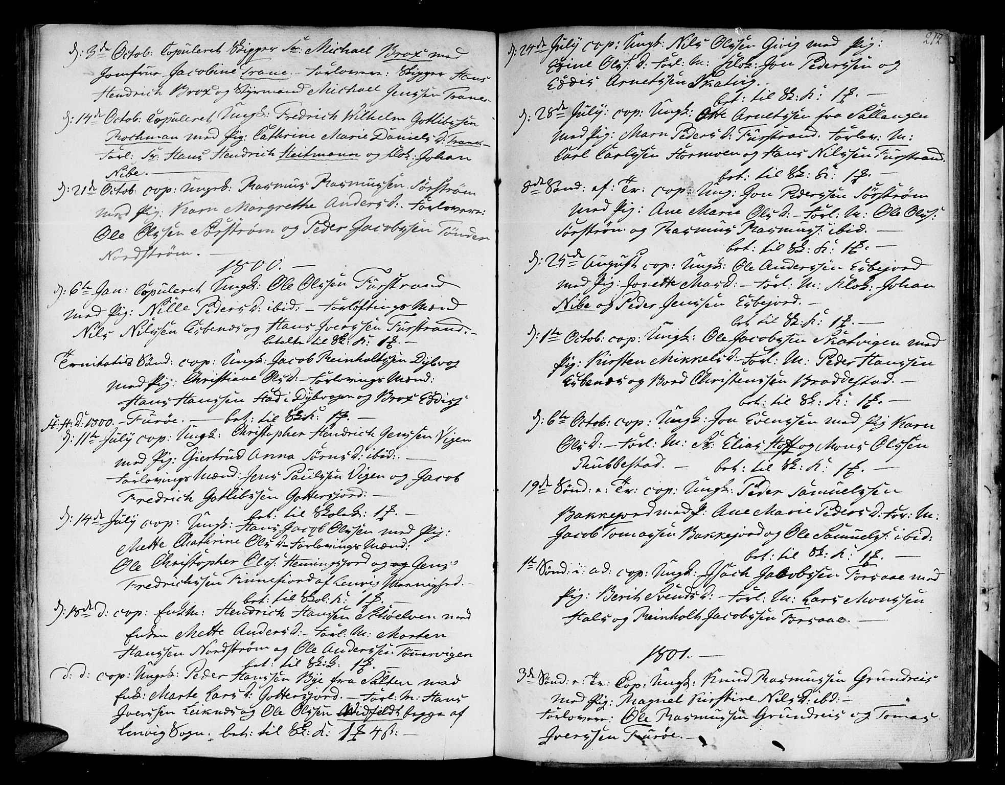 SATØ, Tranøy sokneprestkontor, I/Ia/Iaa/L0002kirke: Parish register (official) no. 2, 1773-1806, p. 212