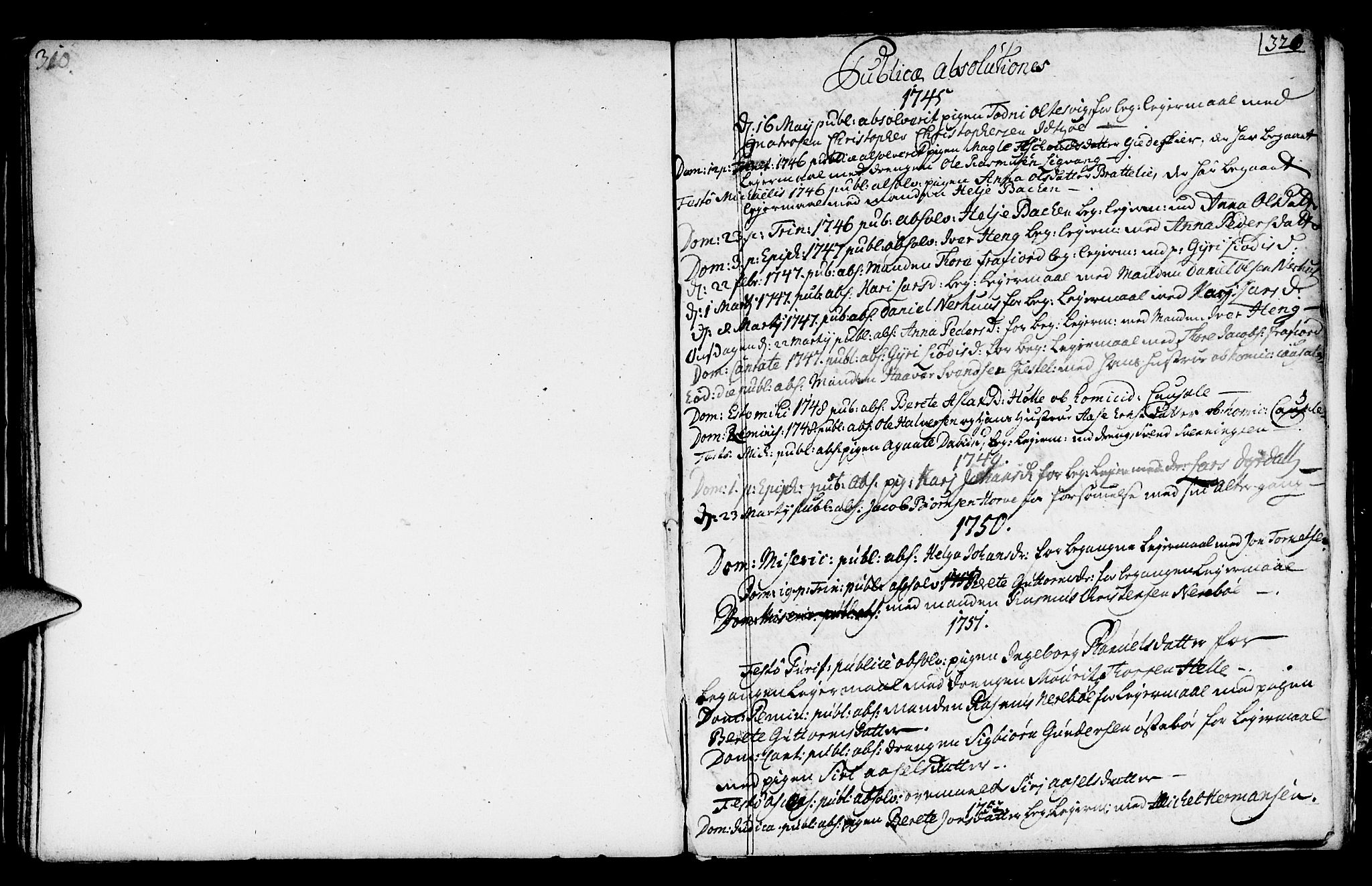 SAST, Strand sokneprestkontor, H/Ha/Haa/L0002: Parish register (official) no. A 2, 1744-1768, p. 321
