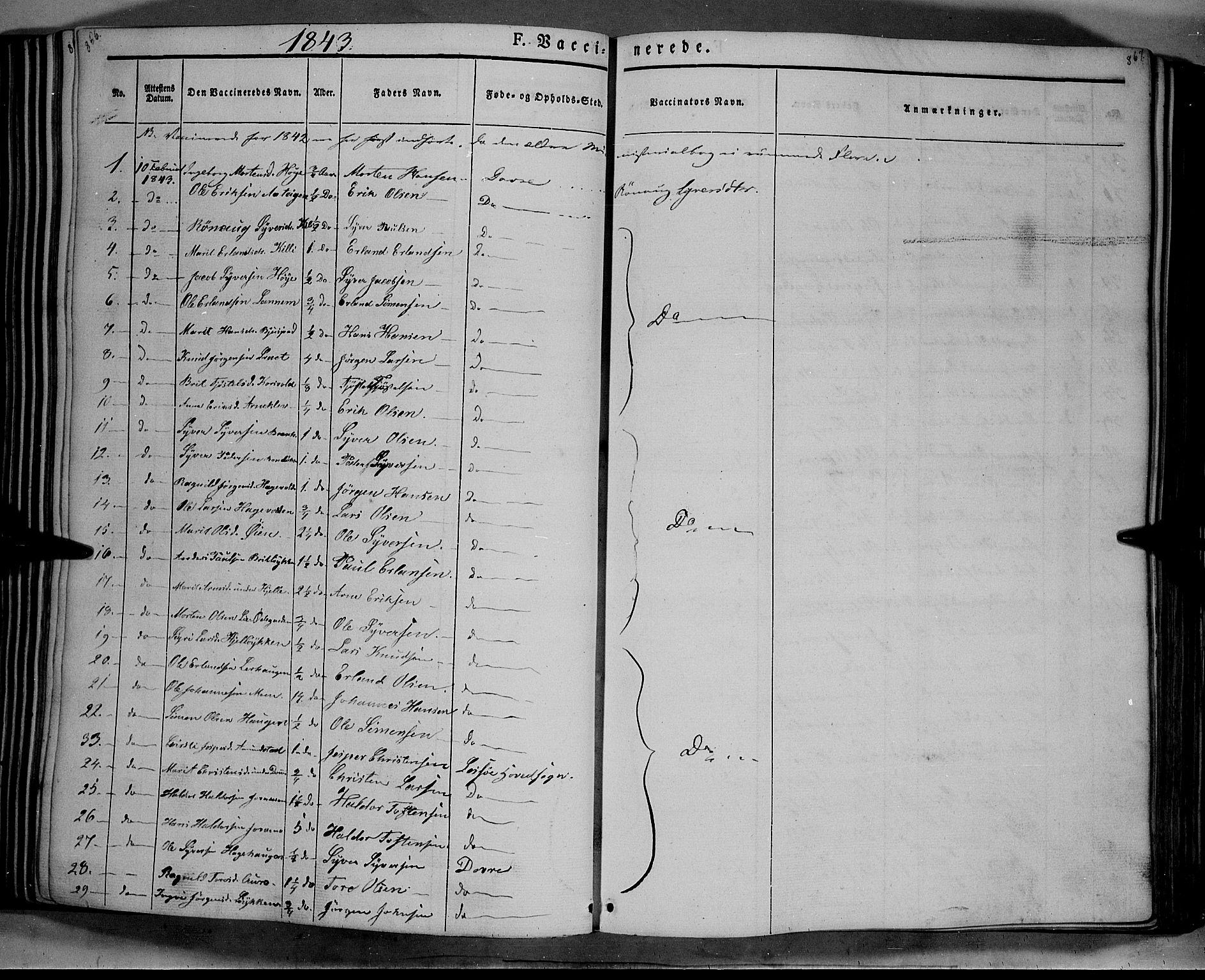 SAH, Lesja prestekontor, Parish register (official) no. 6B, 1843-1854, p. 866-867
