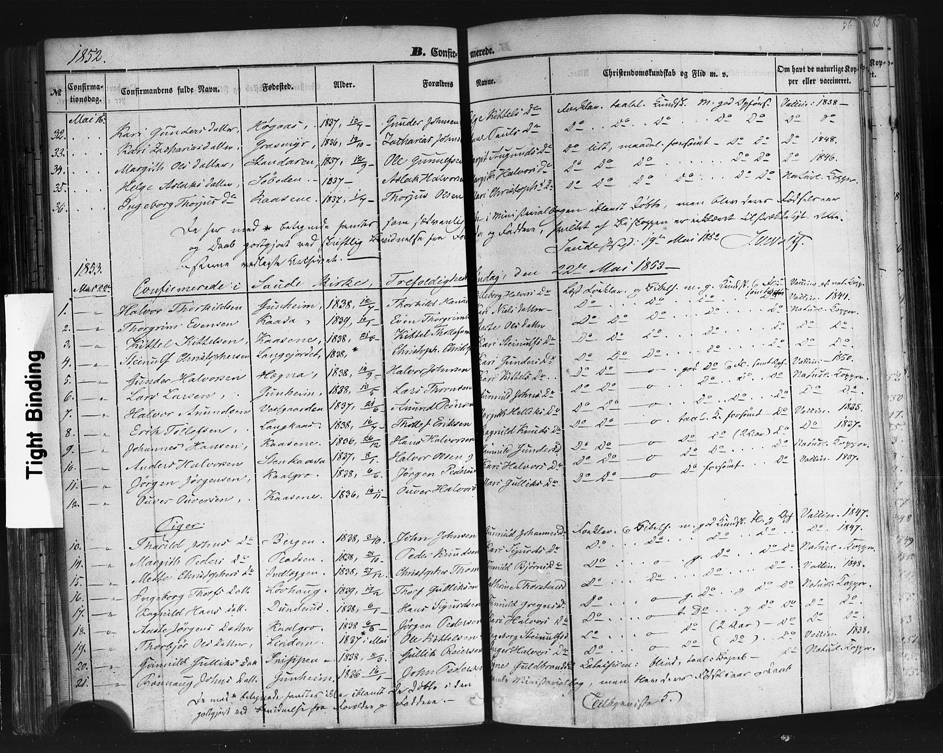 SAKO, Sauherad kirkebøker, F/Fb/L0001: Parish register (official) no. II 1, 1851-1877, p. 76