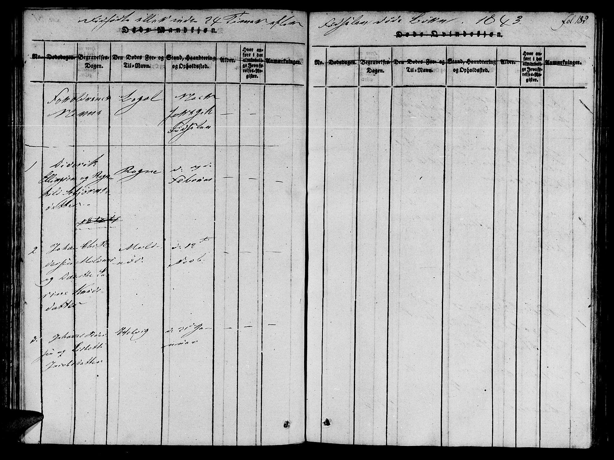 SAT, Ministerialprotokoller, klokkerbøker og fødselsregistre - Møre og Romsdal, 536/L0495: Parish register (official) no. 536A04, 1818-1847, p. 182