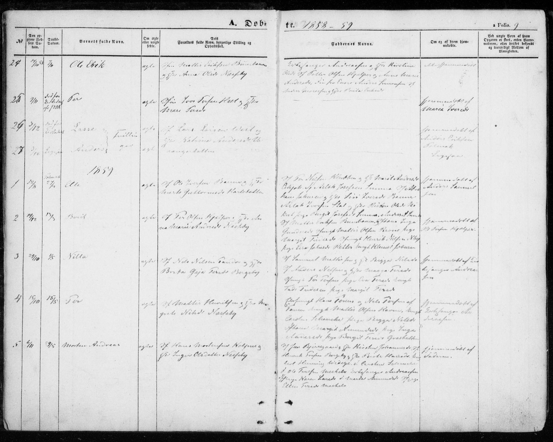 SATØ, Nesseby sokneprestkontor, H/Ha/L0002kirke: Parish register (official) no. 2, 1856-1864, p. 9