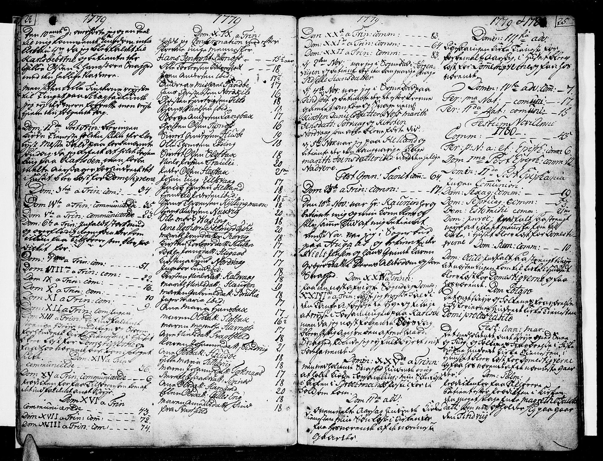SAT, Ministerialprotokoller, klokkerbøker og fødselsregistre - Nordland, 859/L0841: Parish register (official) no. 859A01, 1766-1821, p. 24-25